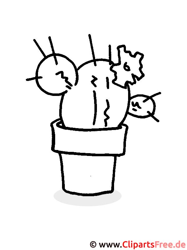 Kaktus Malvorlage, Bild zum Ausmalen