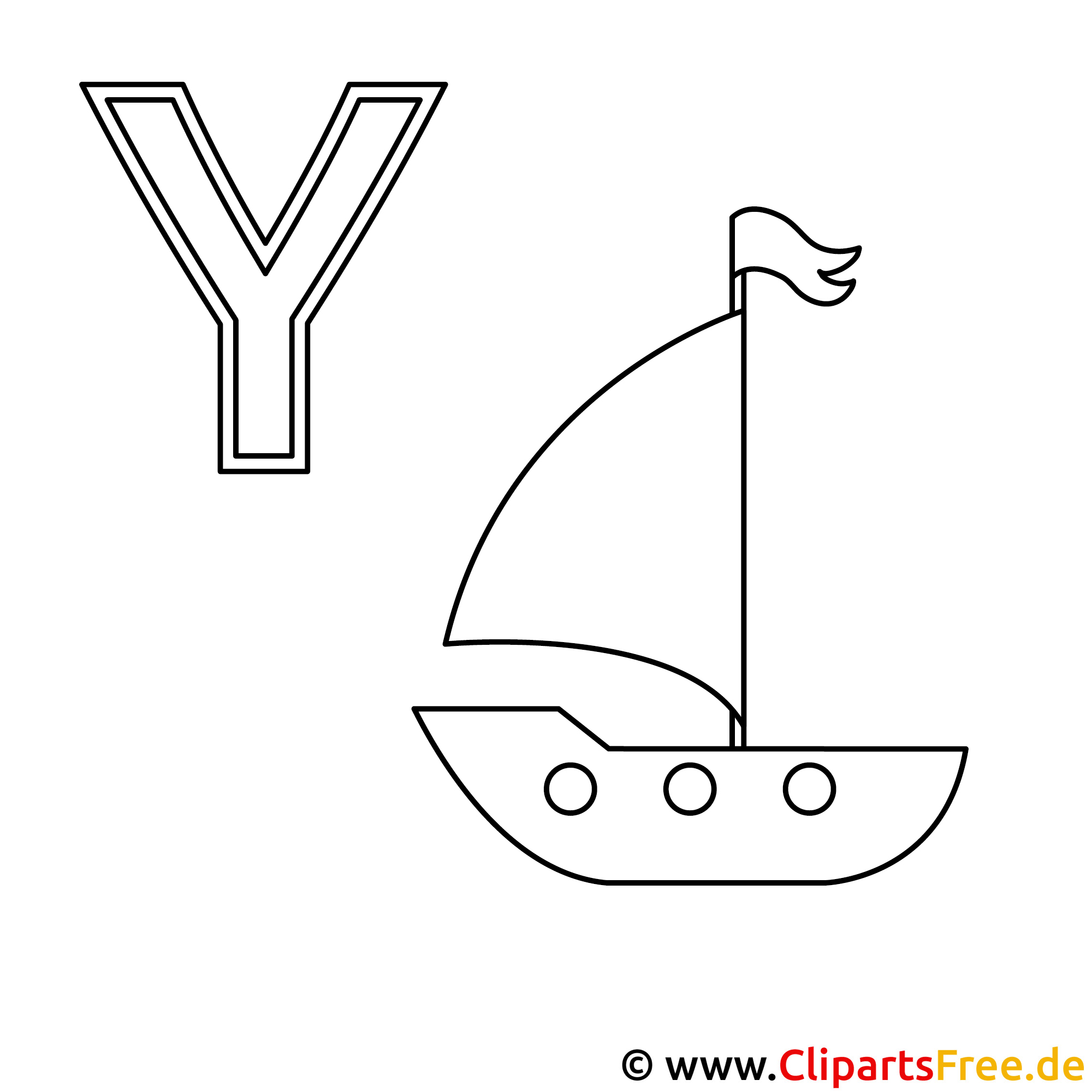yacht ausmalbild  abc bilder