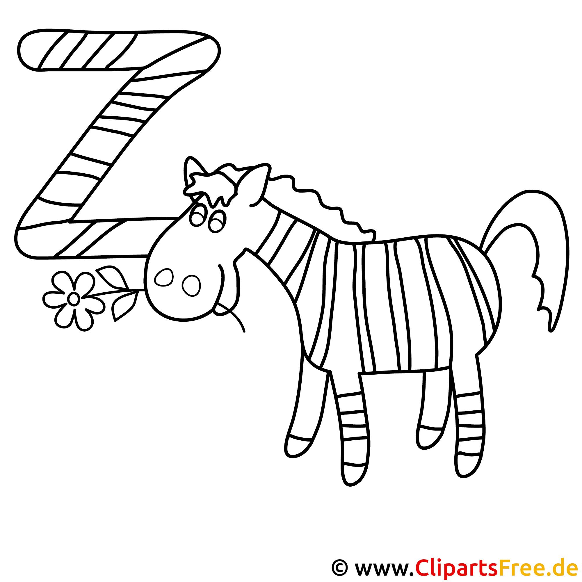 zebra - abc in englisch