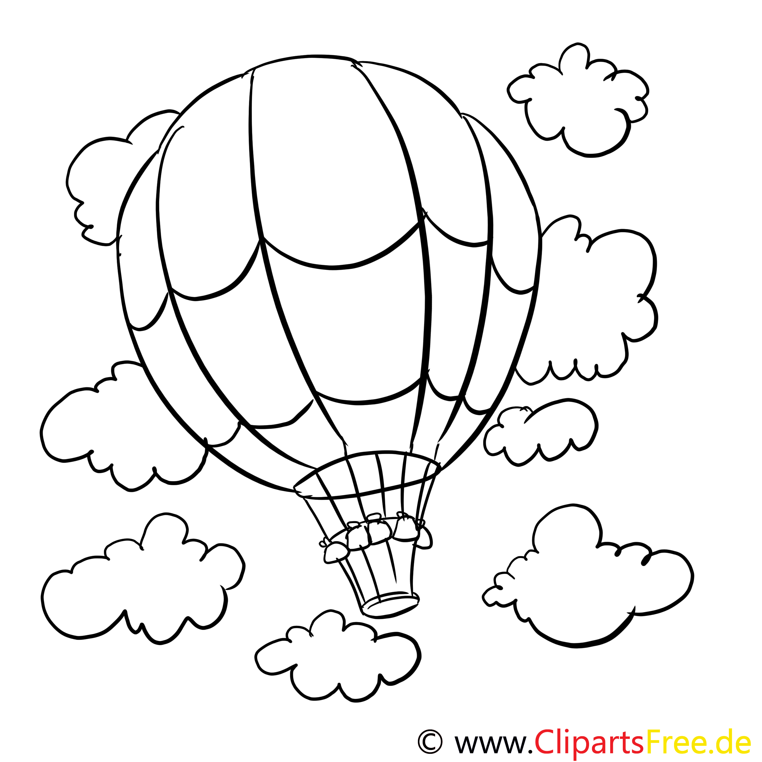 ausmalvorlage heißluftballon