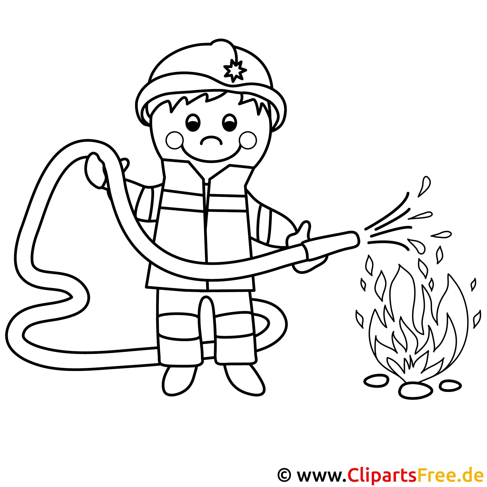 Feuerwehrmann Bild zum Ausmalen