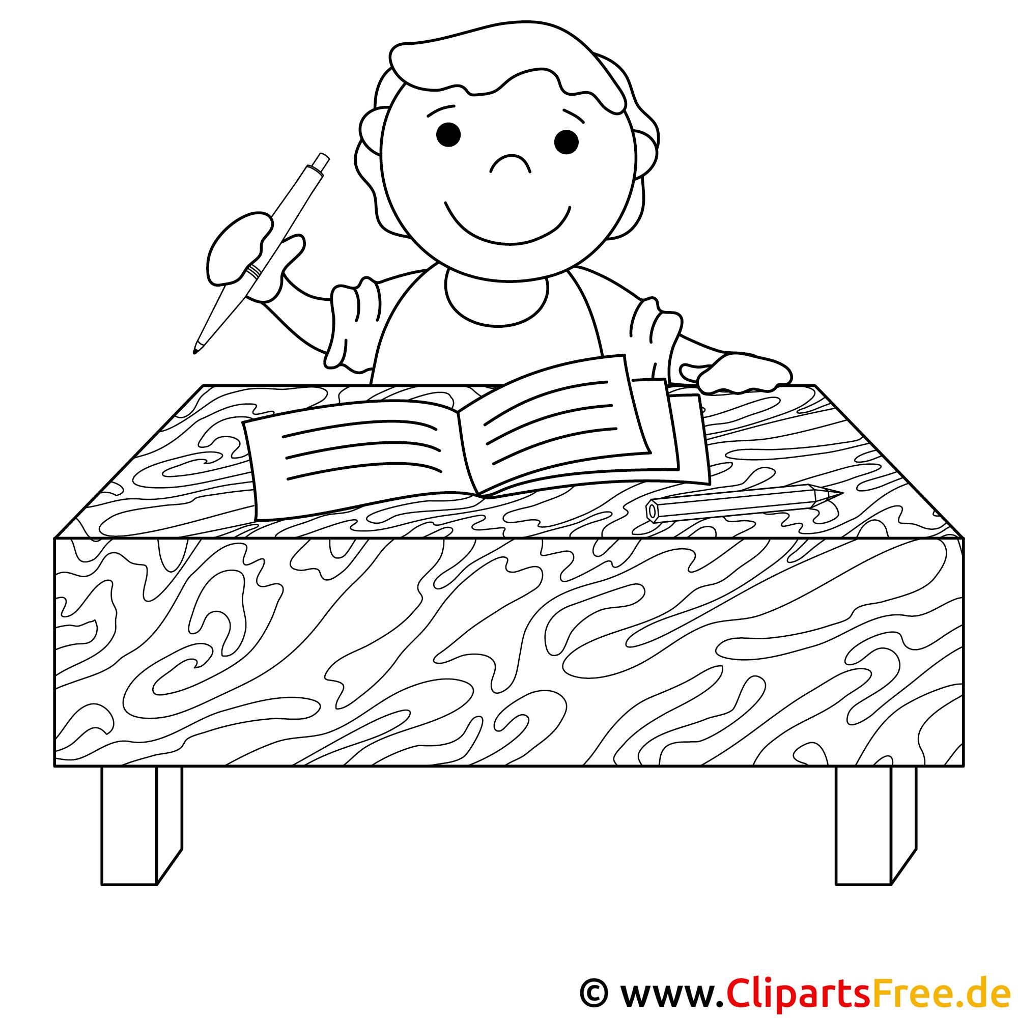 Schreiben Bild zum Ausmalen
