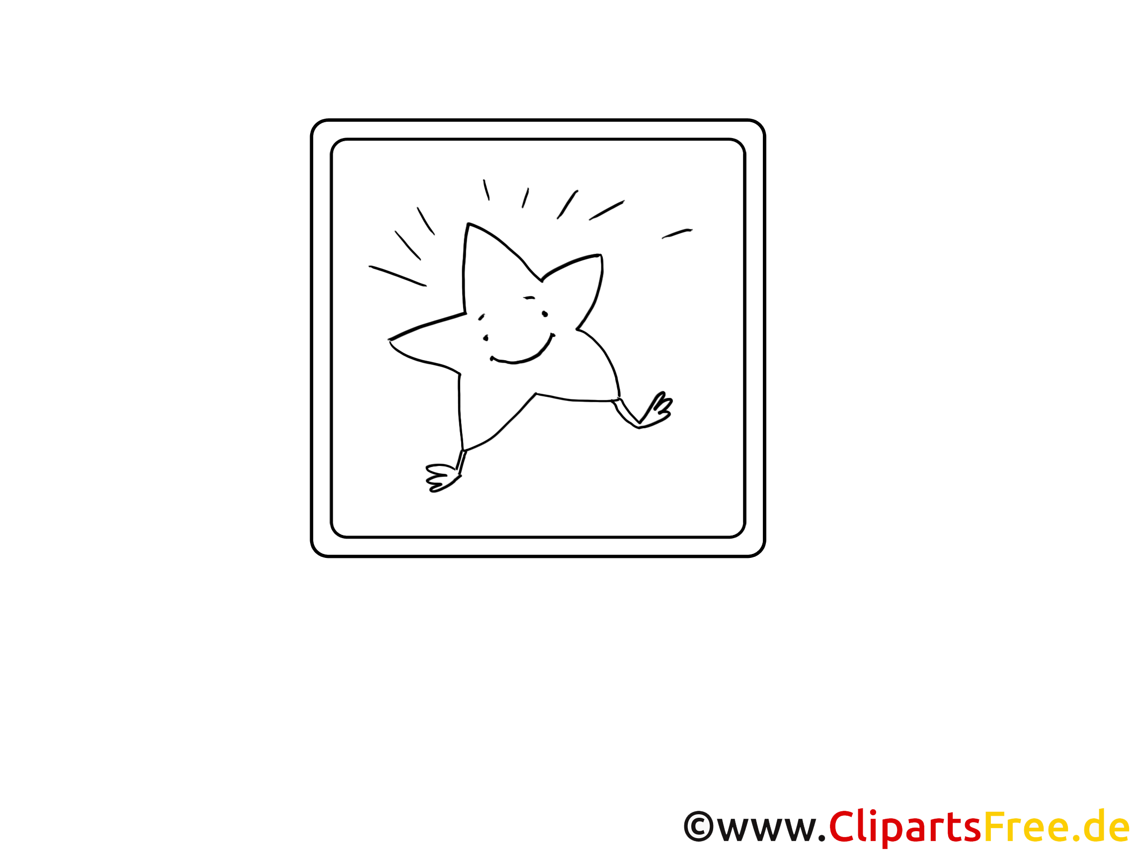 Star icon coloring picture