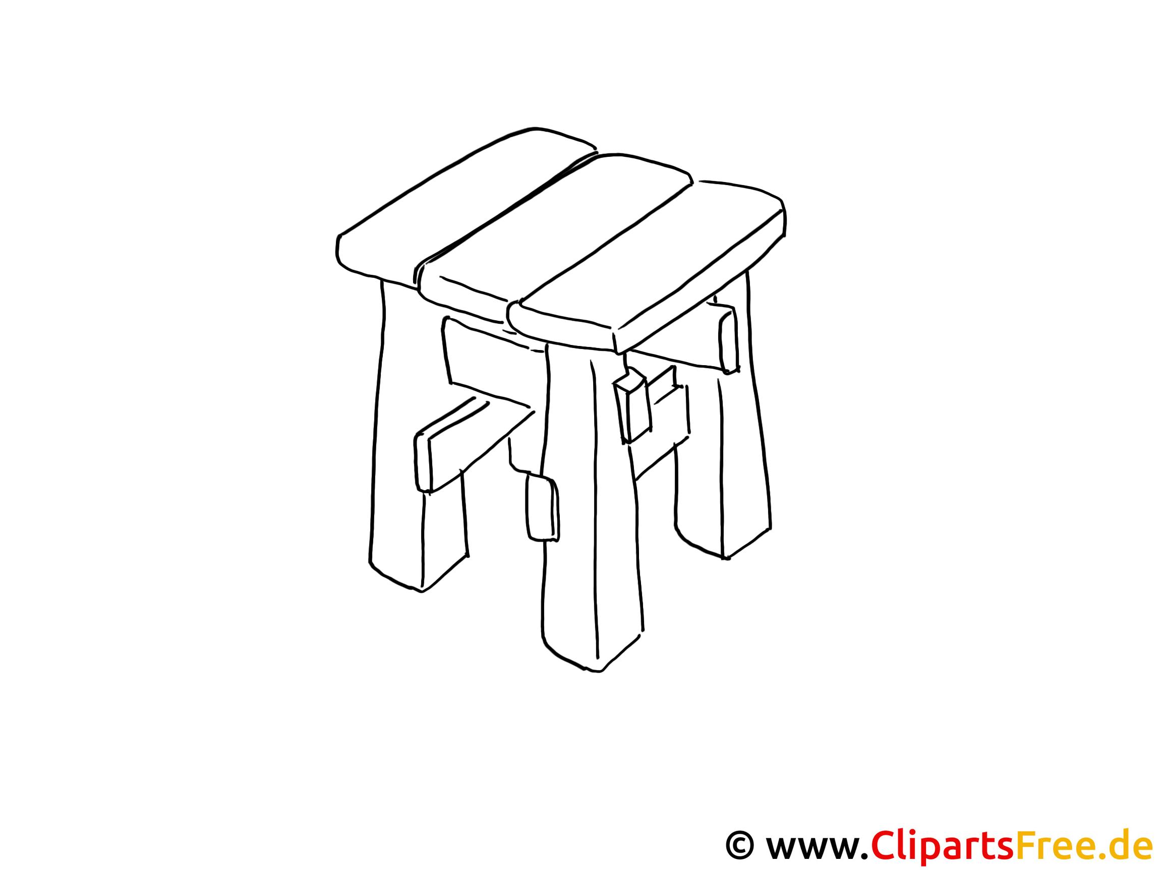 Zeichenvorlage Stuhl zum Malen