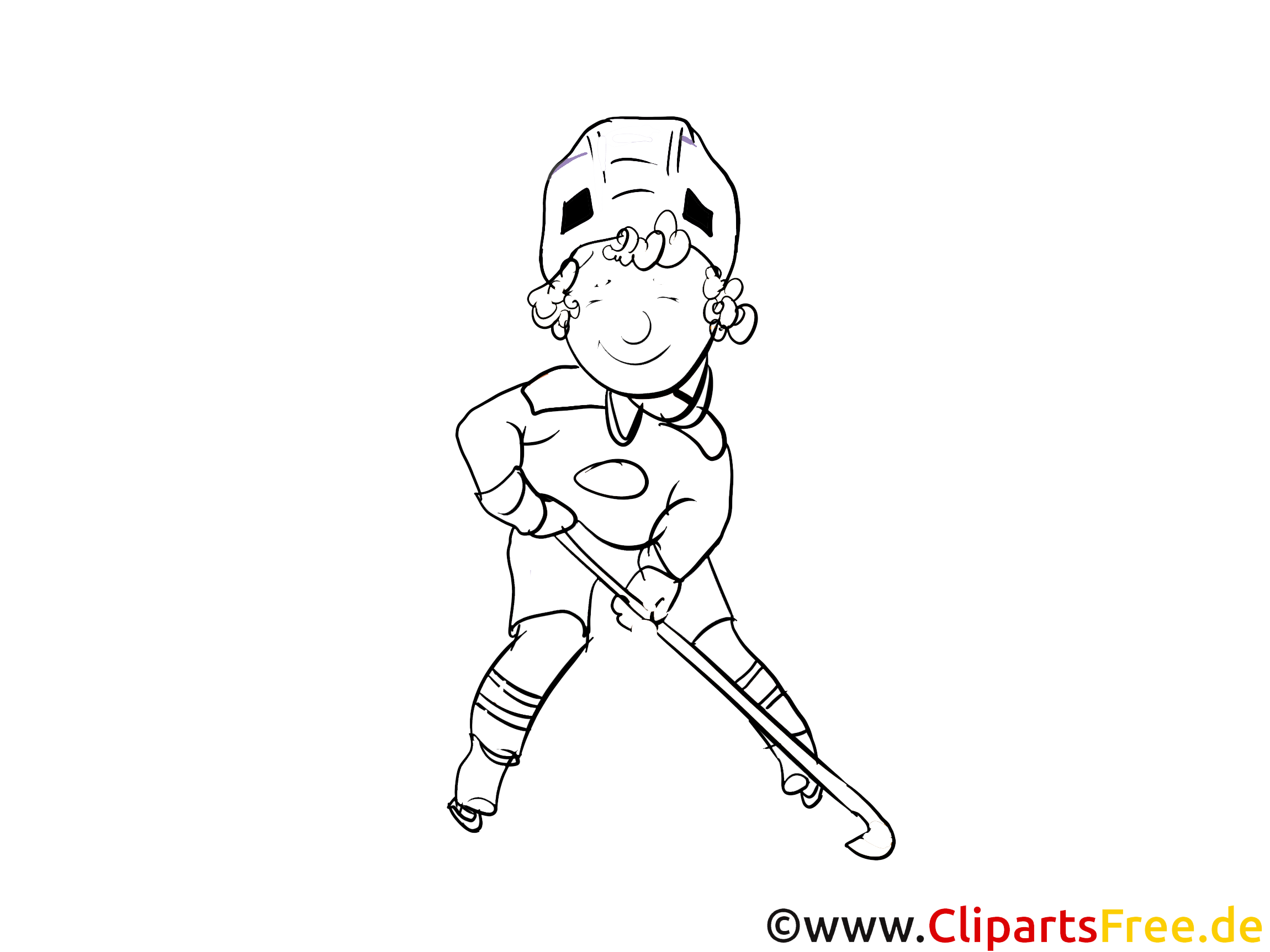 Zeichenvorlagen Sport, WInter, Eishockey kostenlos