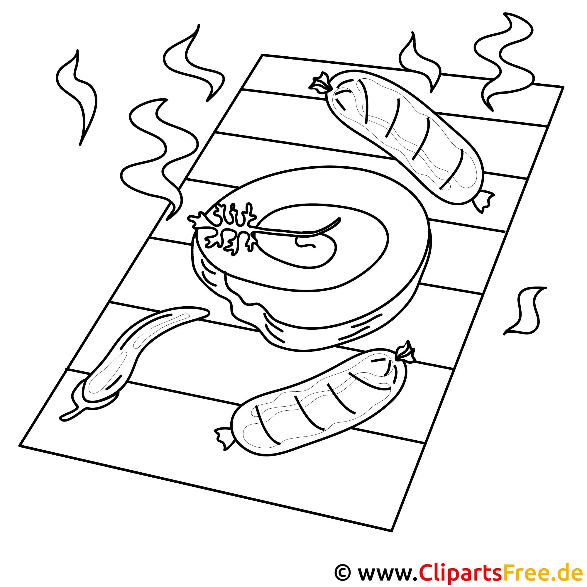 Zum Drucken und Ausmalen Bilder Grillen