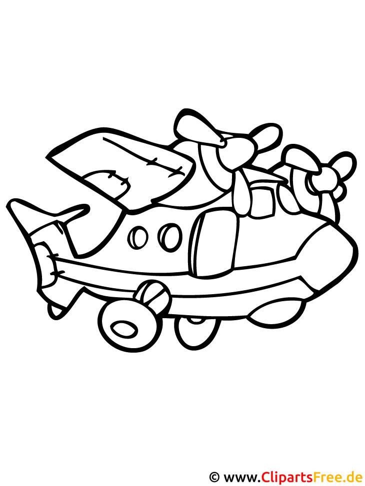 Flieger Malvorlage
