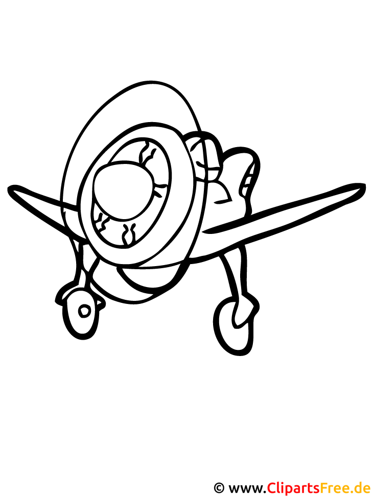 Flugzeug Ausmalbild