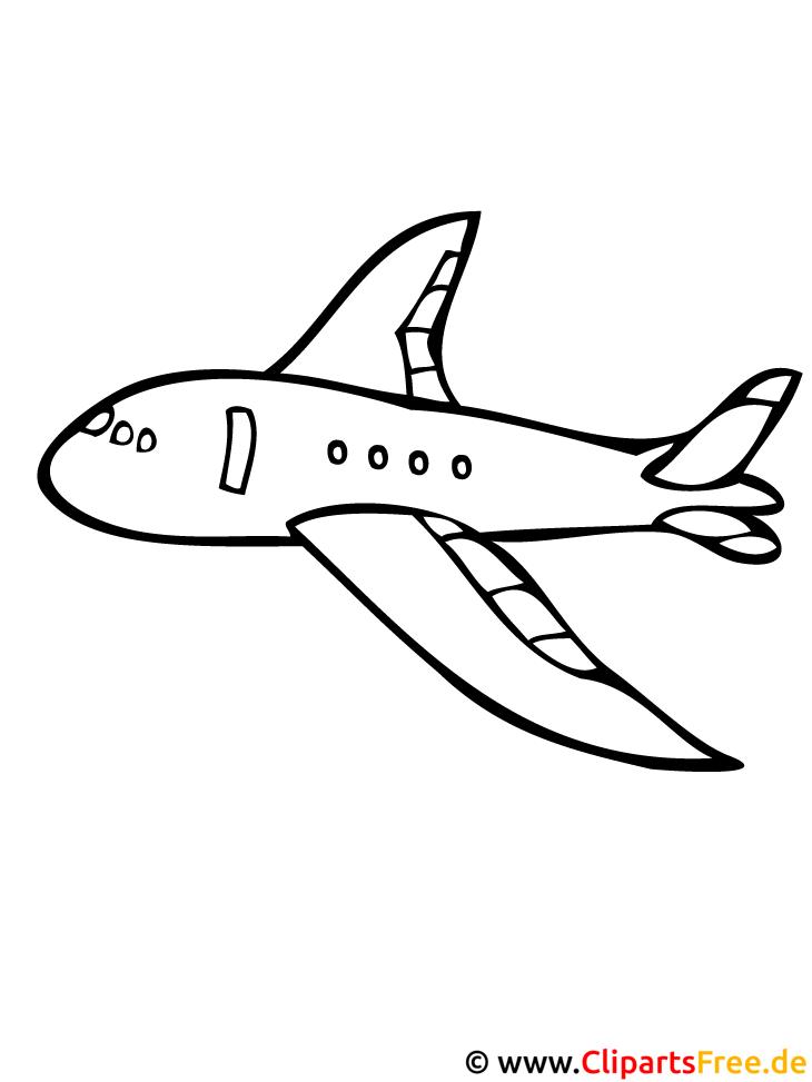 flugzeug ausmalbild kostenlos