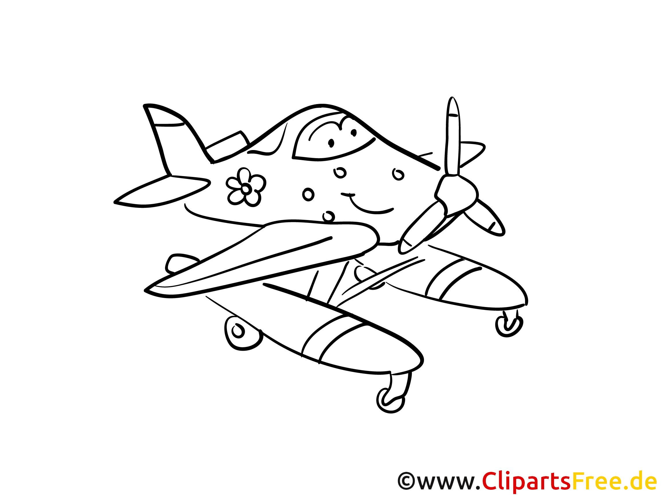 fröhliches flugzeug malvorlagen flugzeuge und transport