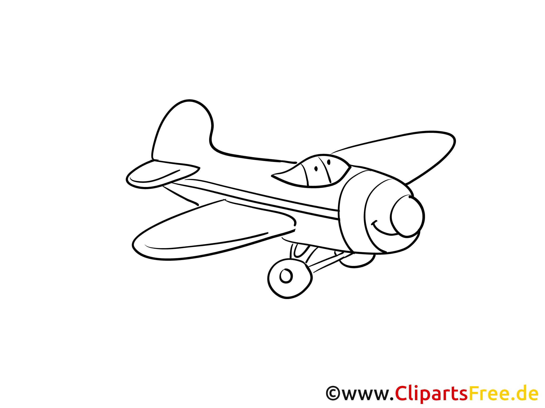 Himmel Passagierflugzeug Flughafen Ausmalbilder zum Drucken