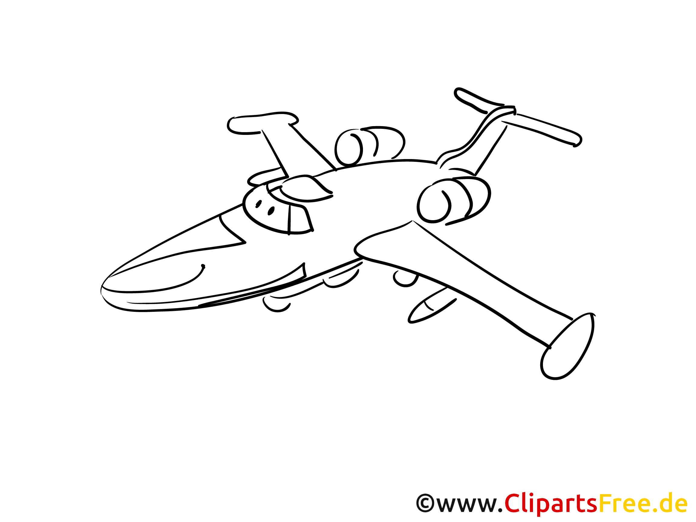 Jagdflugzeug Flughafen Ausmalbilder zum Drucken