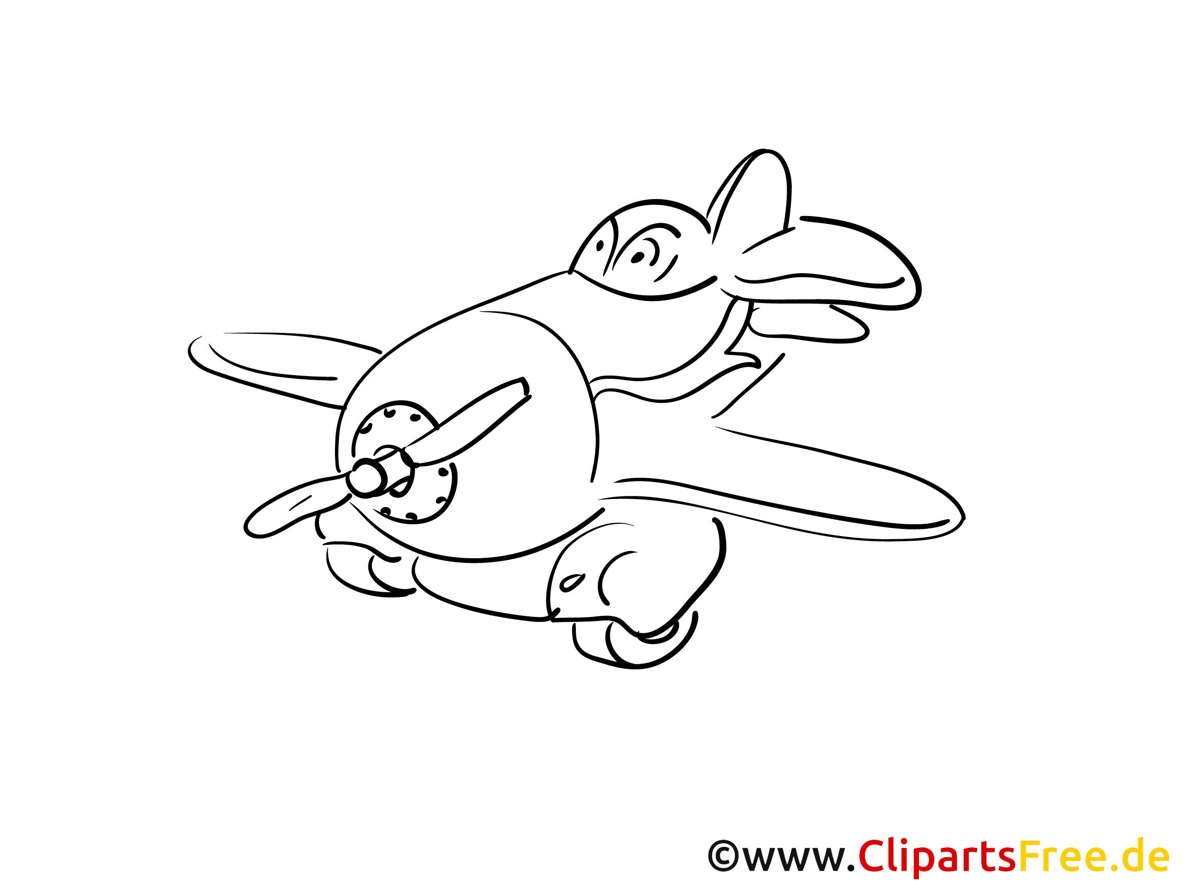 Kleines Flugzeug Ausmalbilder Technik und Aviation