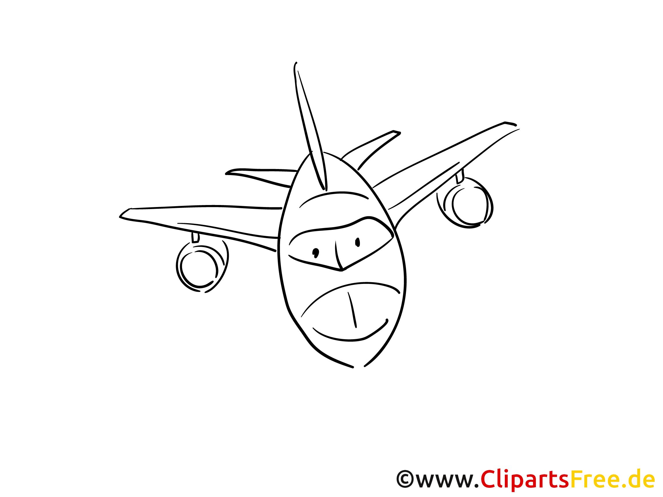 Passagierflugzeug Flughafen Ausmalbilder zum Drucken