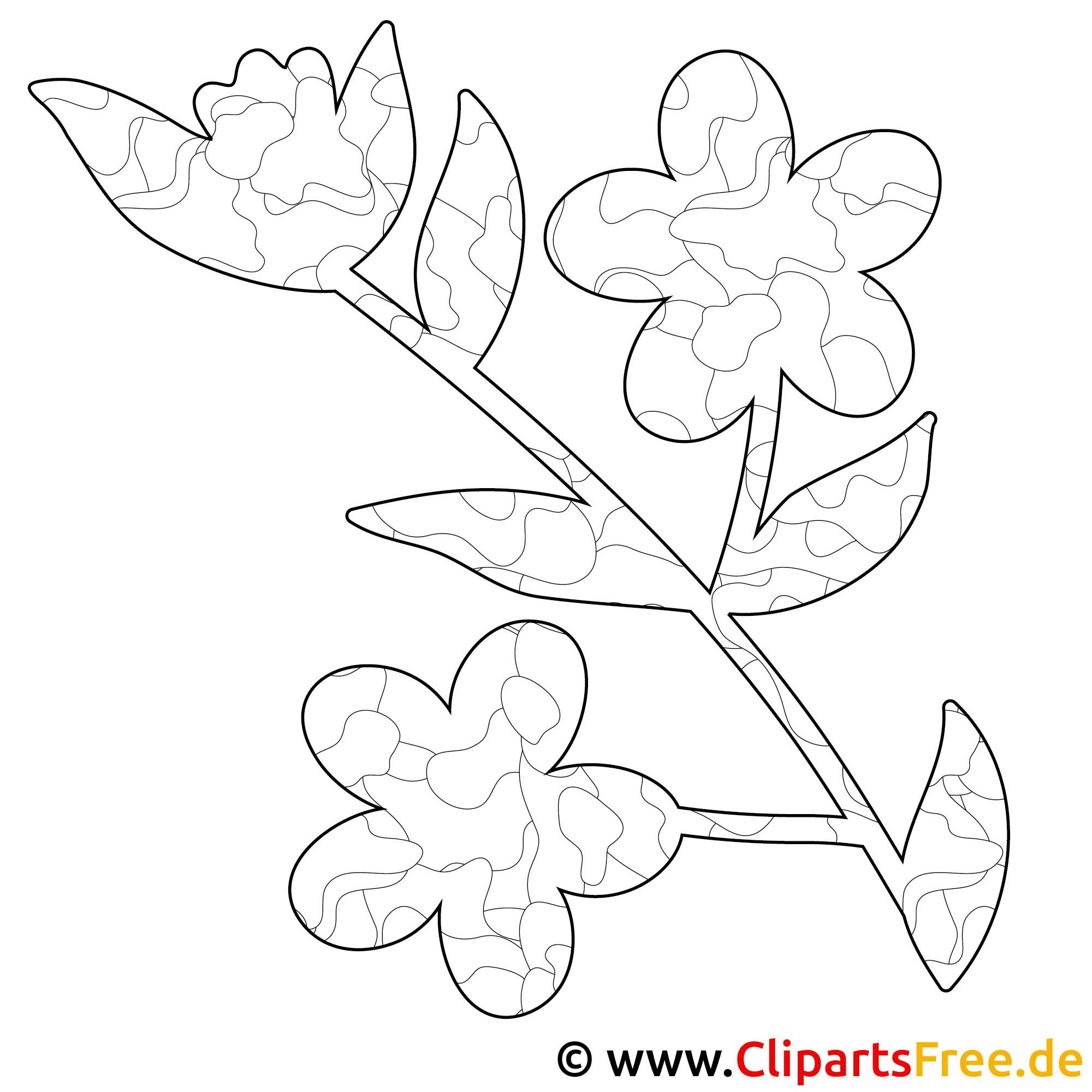 Blume Bild zum Ausmalen, Malvorlage