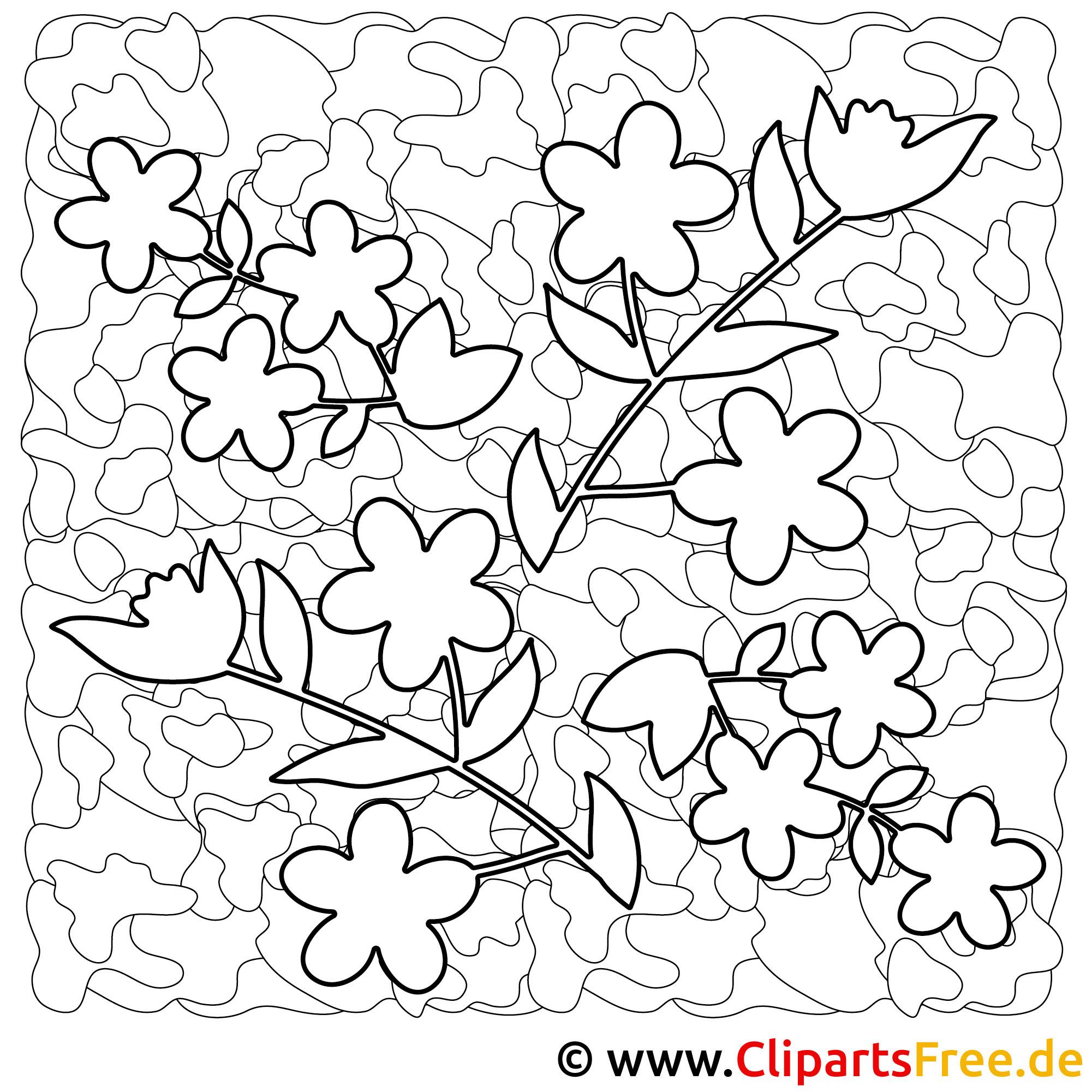 Blumen Bild zum Malen