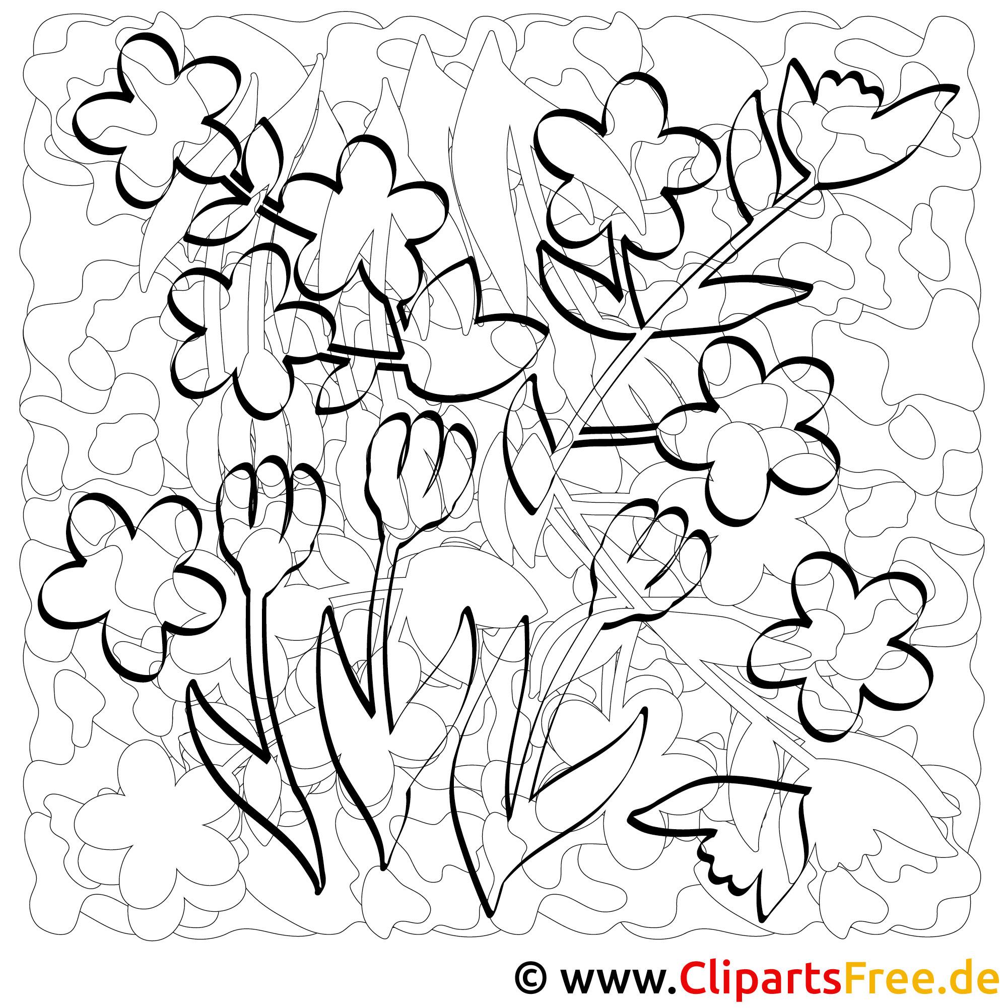 Fensterbild Blumen