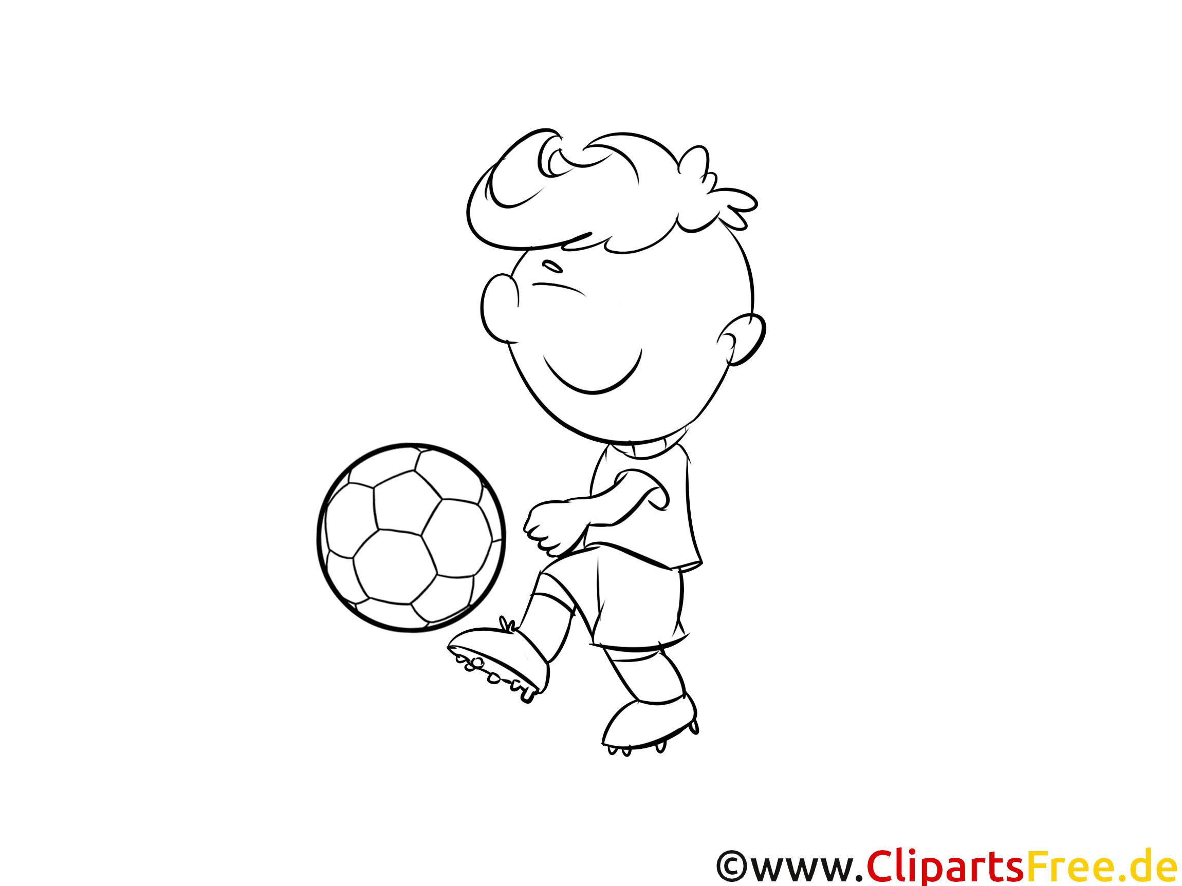 ausmalbild online kind mit fussball