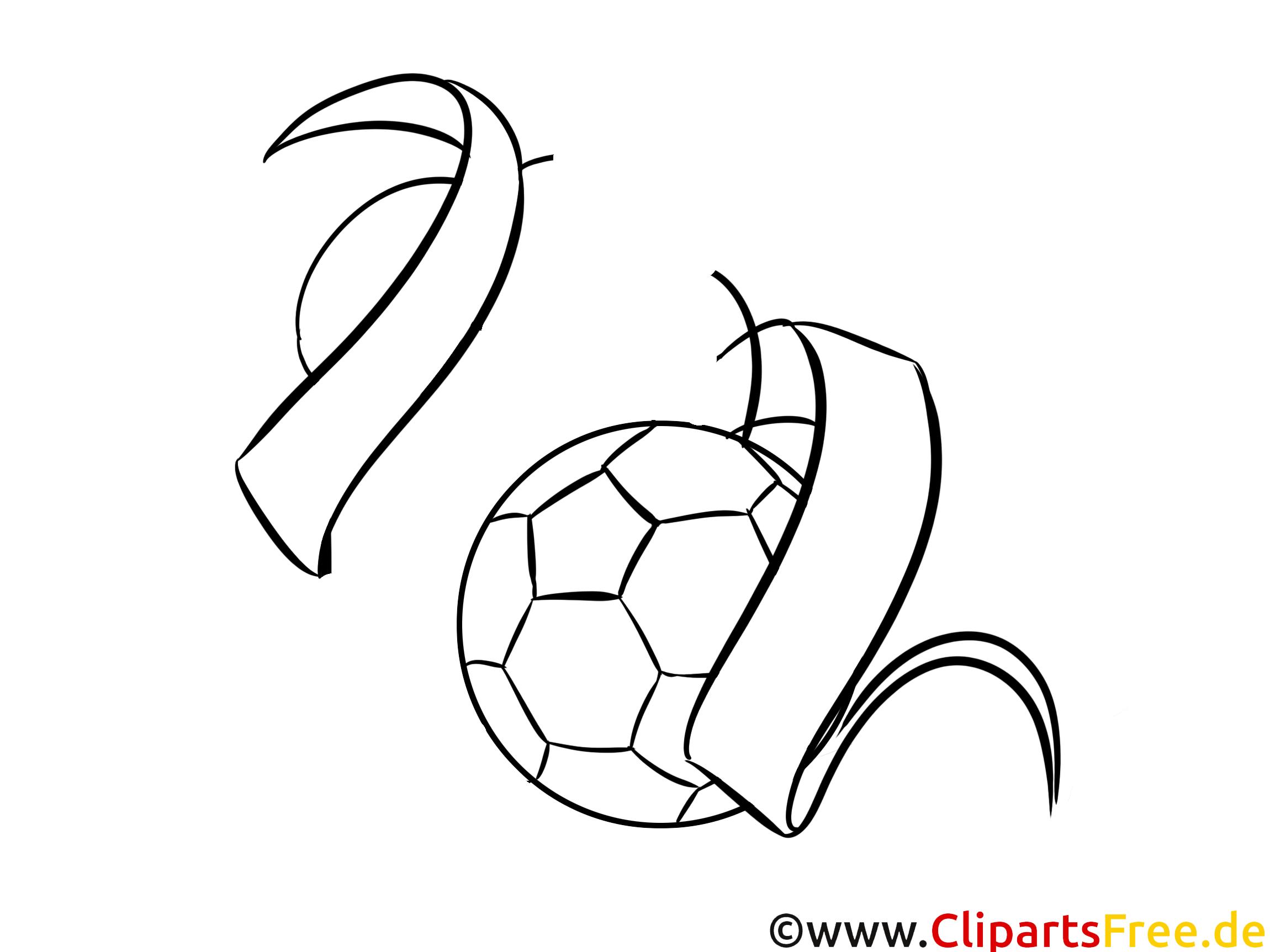 Ball Bild zum Ausdrucken und Ausmalen