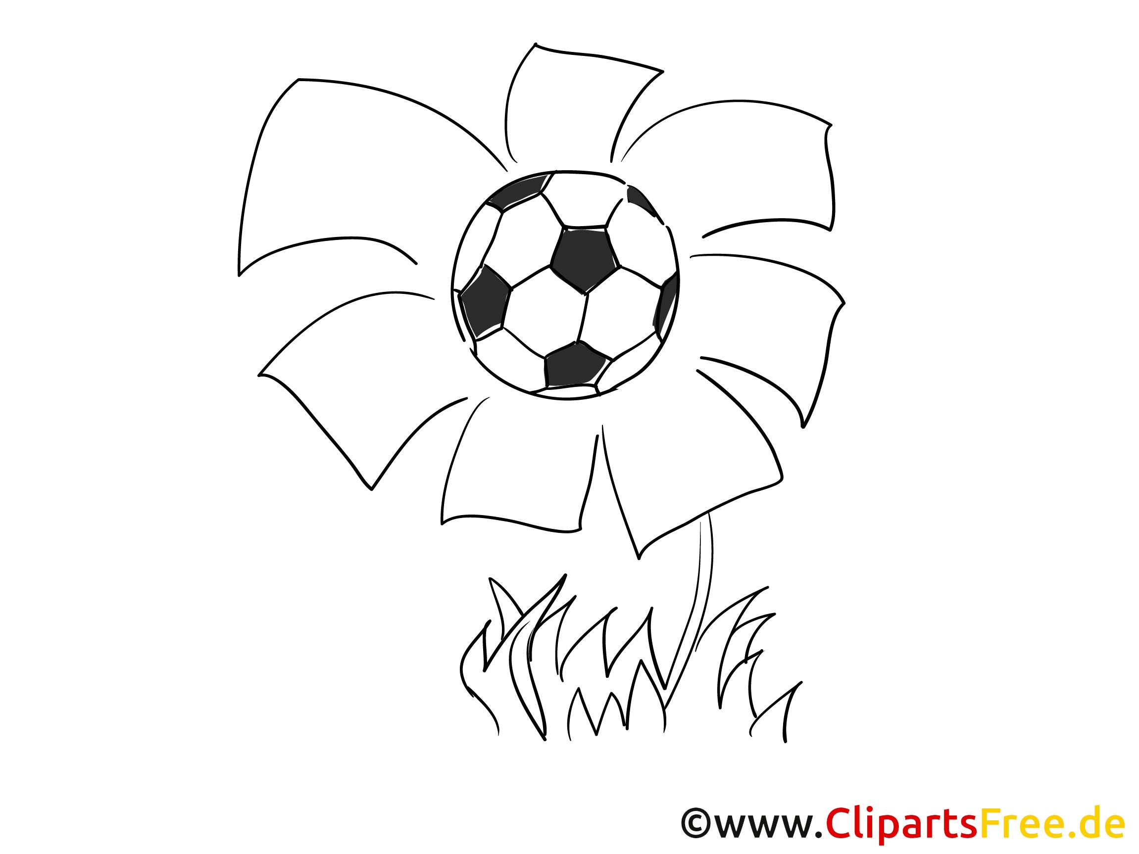 Blume und Fussball Malvorlage zum Malen