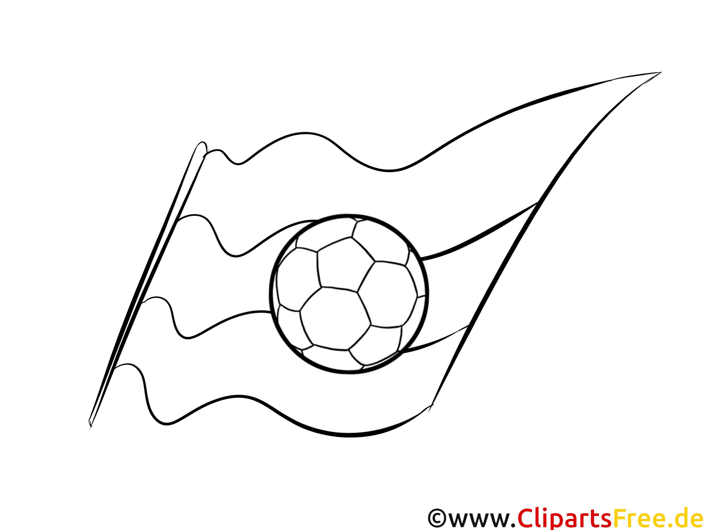 deutschland ball und fahne malvorlage