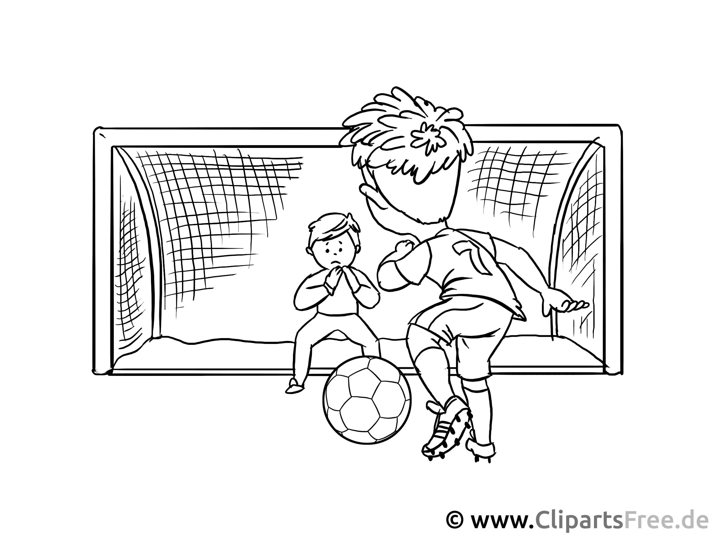 Fussball-Torschuss - Kunstunterricht Grundschule Arbeitblätter, Vorlagen