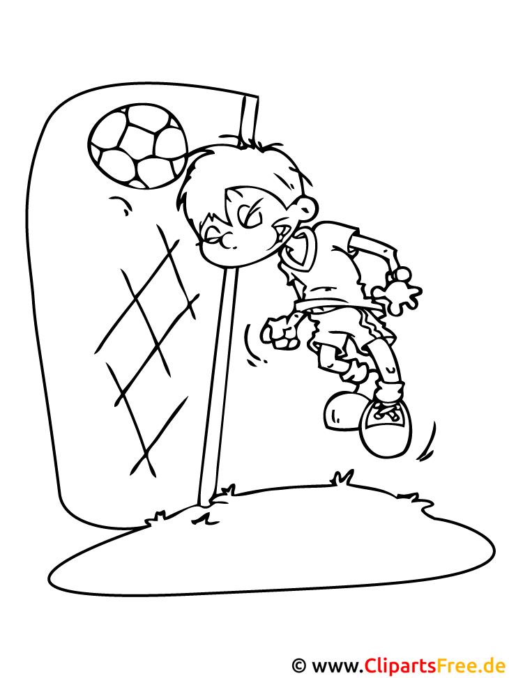 Fussball Ausmalbild - Tor