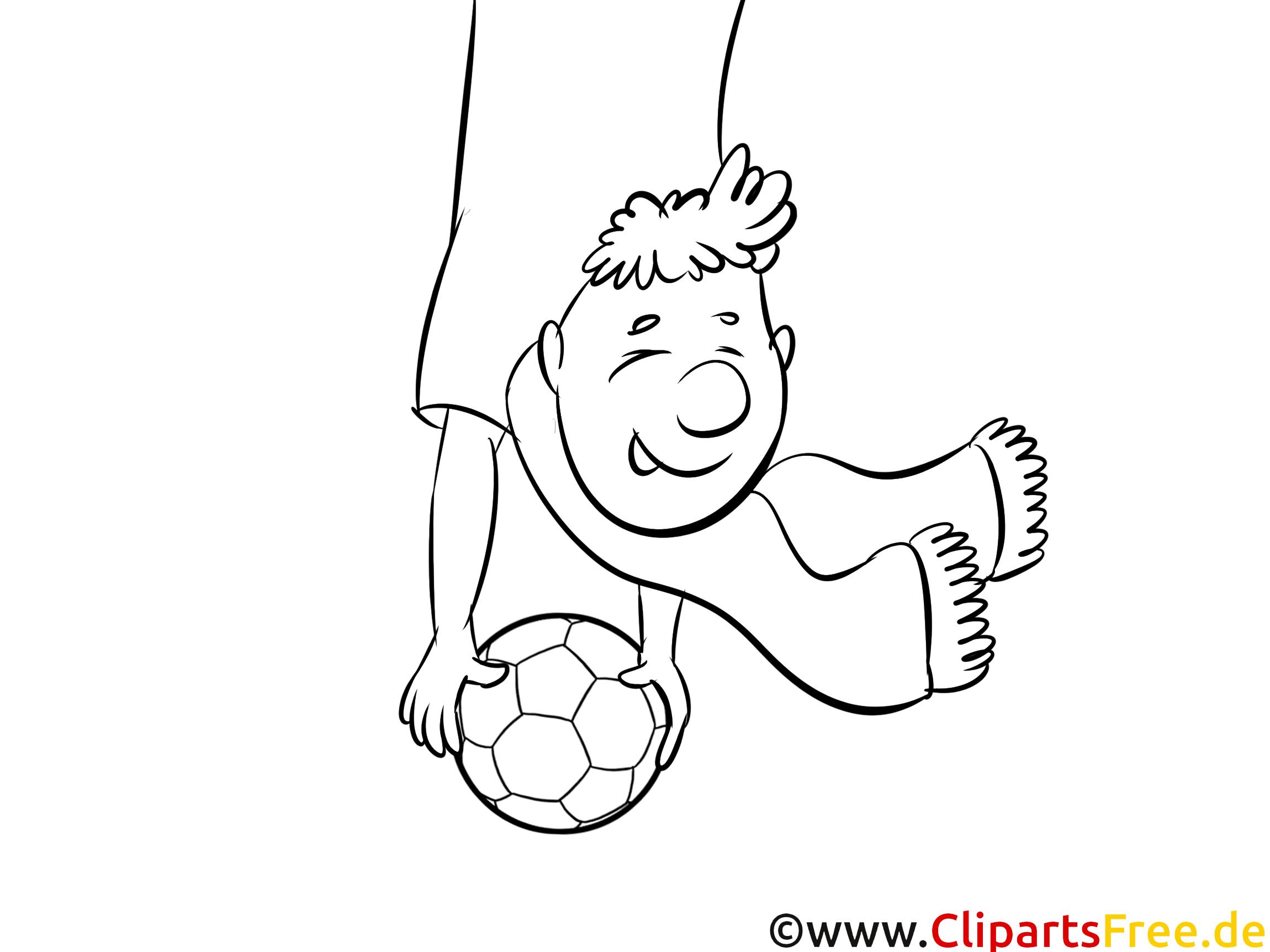 Fussball Bild lustig zum Ausmalen