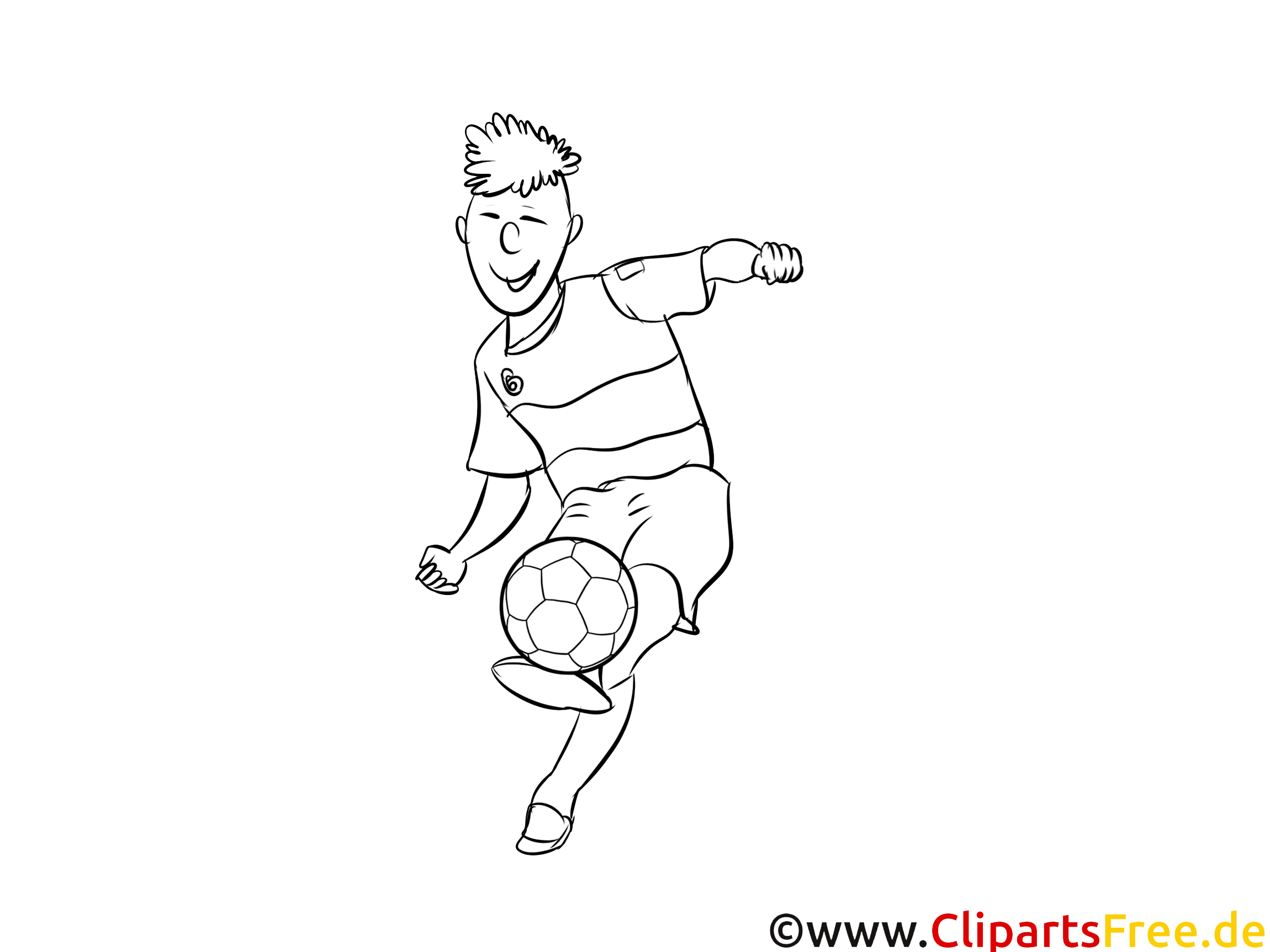 Fußball coloring page