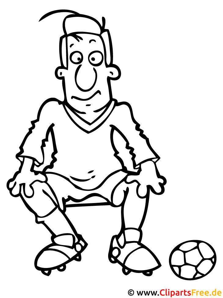 Fussballer Ausmalbild - Fussball Ausmalbilder
