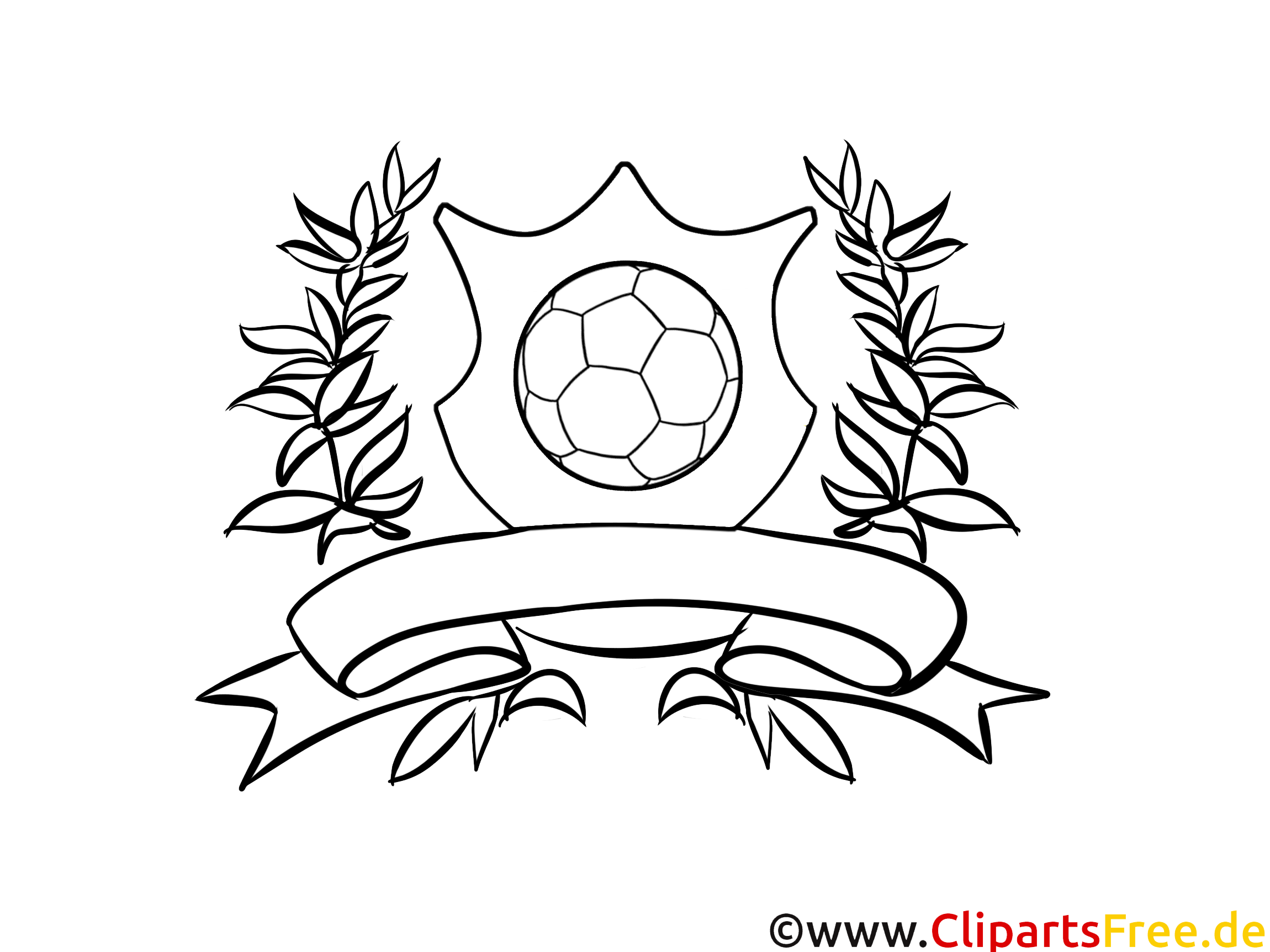 Logo Fussball zum Ausmalen