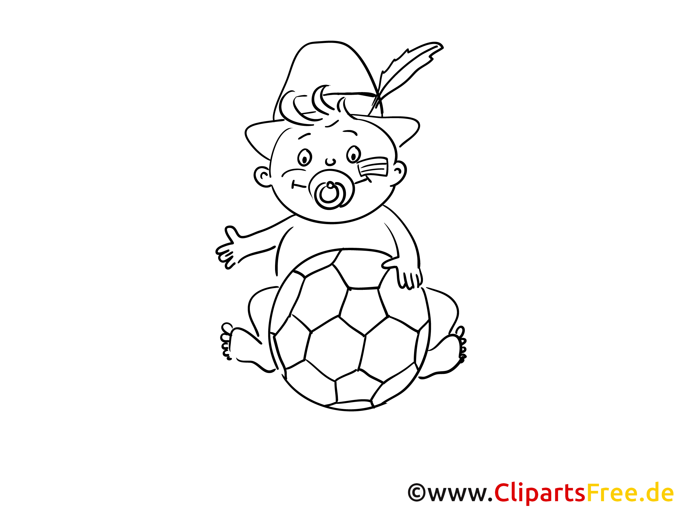 Soccer Ball Baby Coloring Page