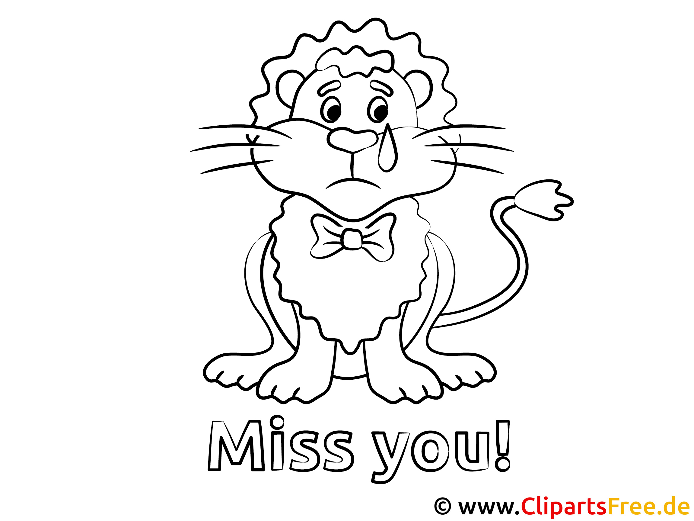 löwe vermisse dich ausmalbild