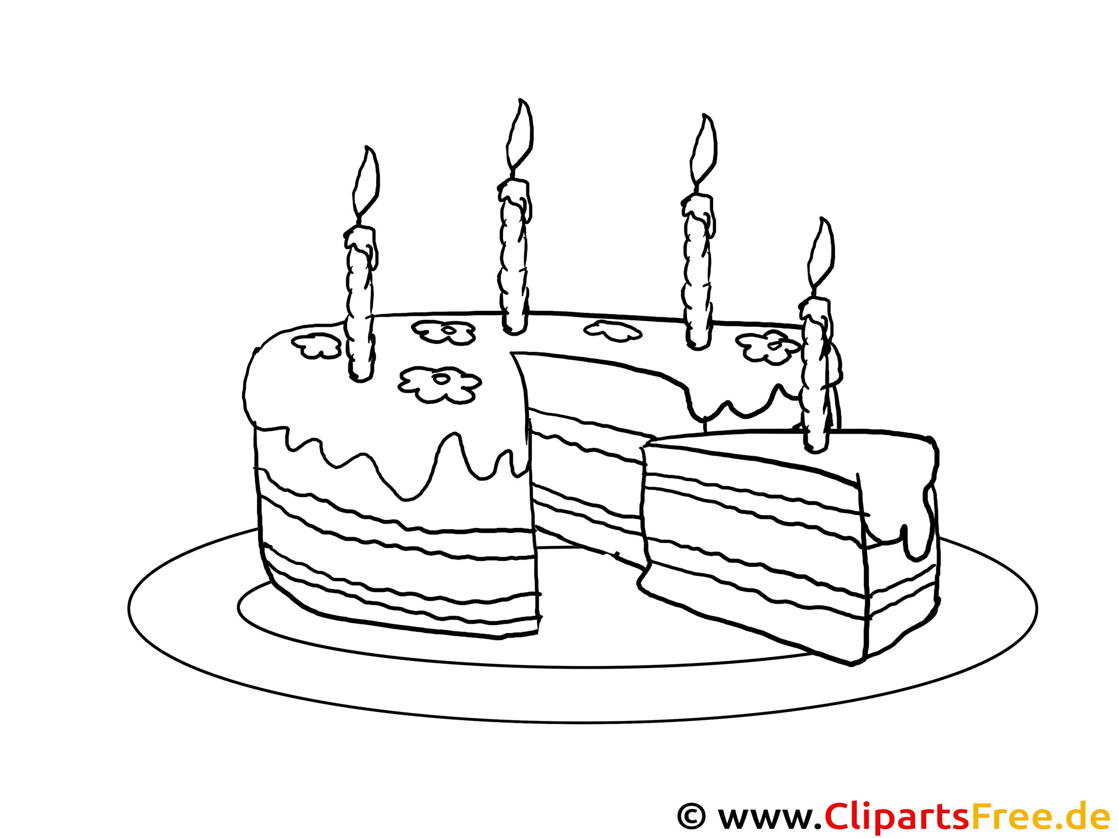 Bild zum Malen Geburtstagstorte