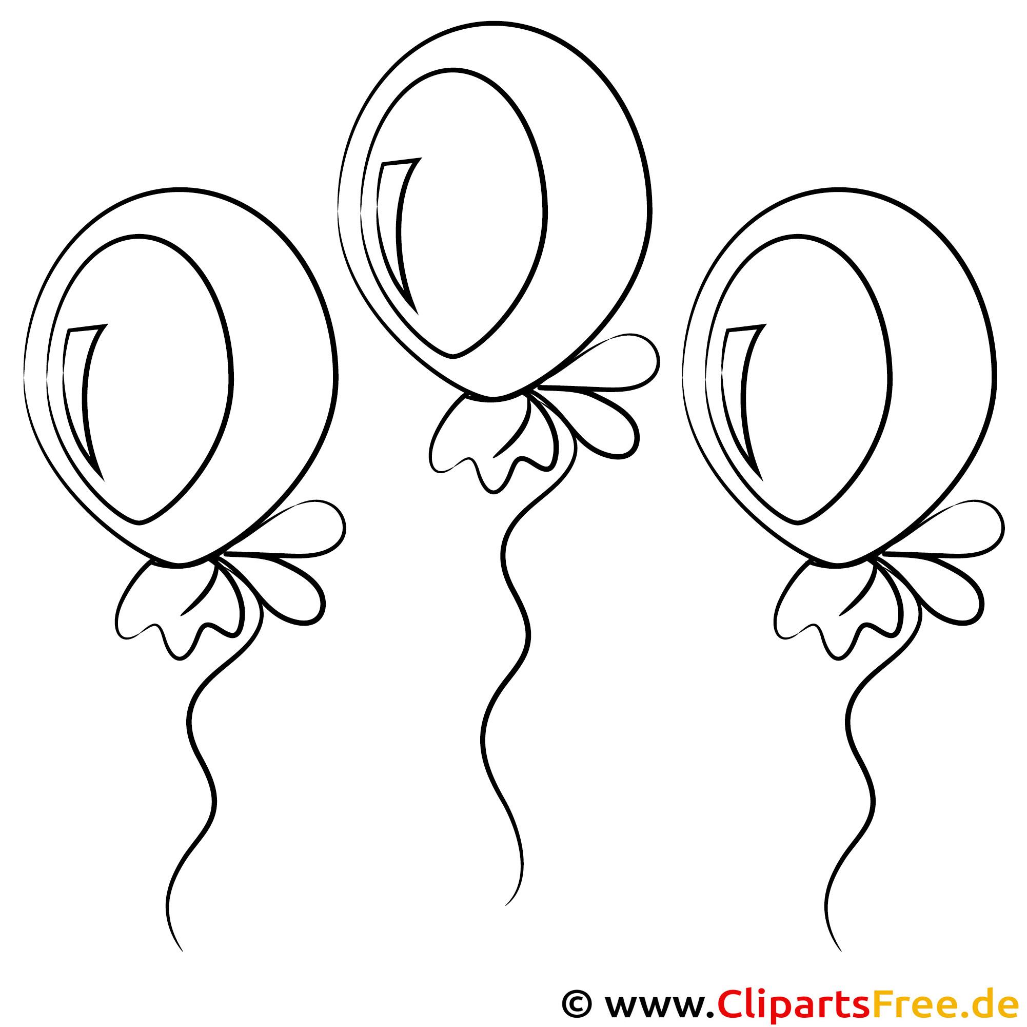 Bild zum Malen Luftballons