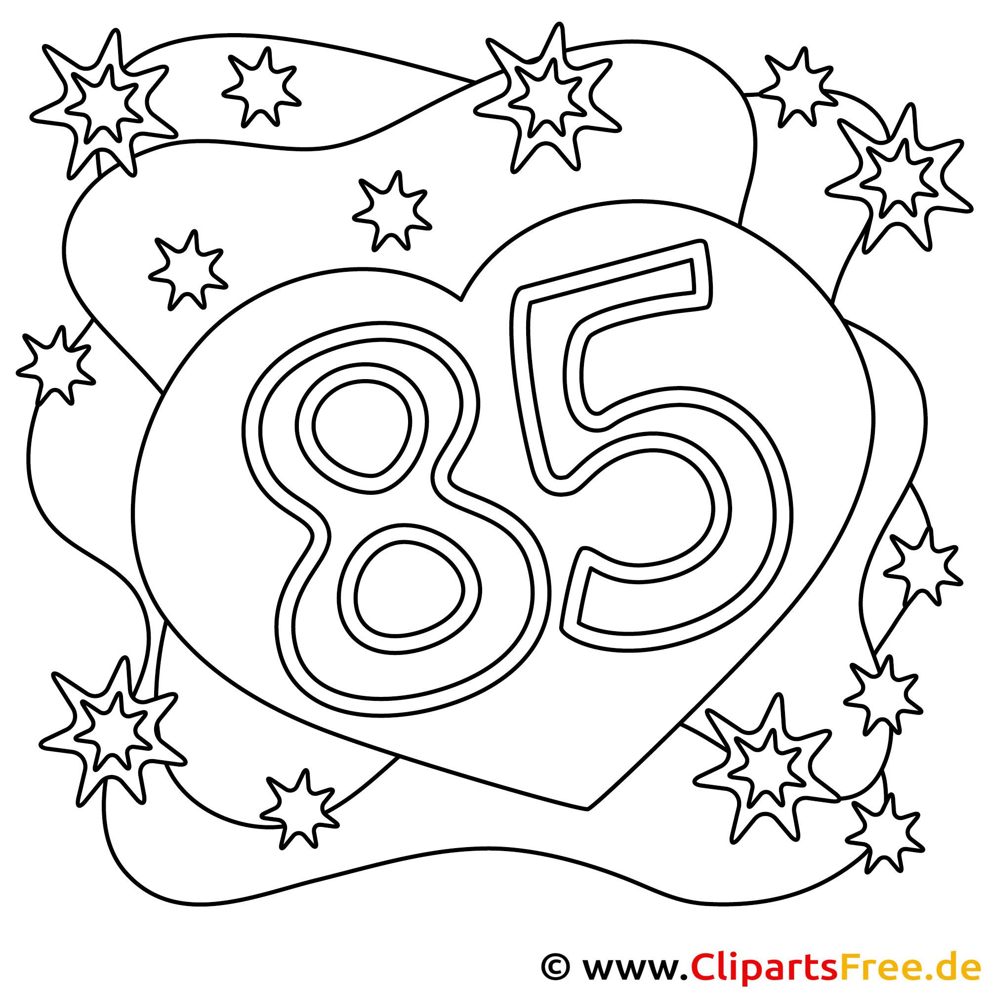 Bild zum Malen zum 85 Geburtstag