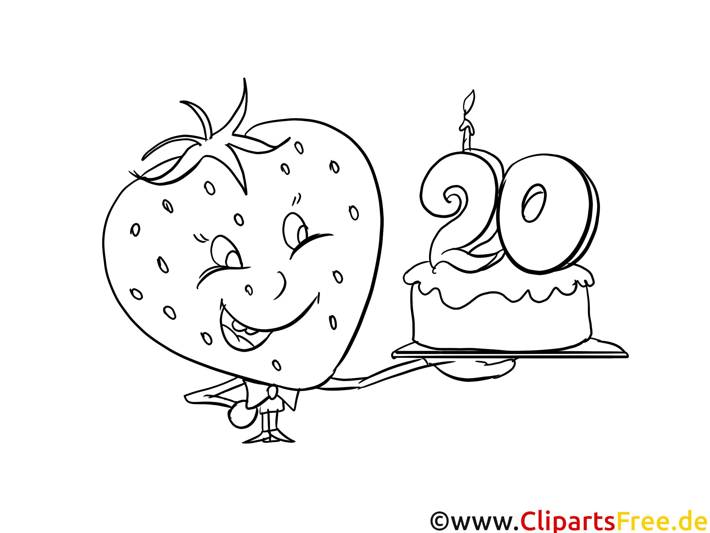 Birthday Colouring Page PDF