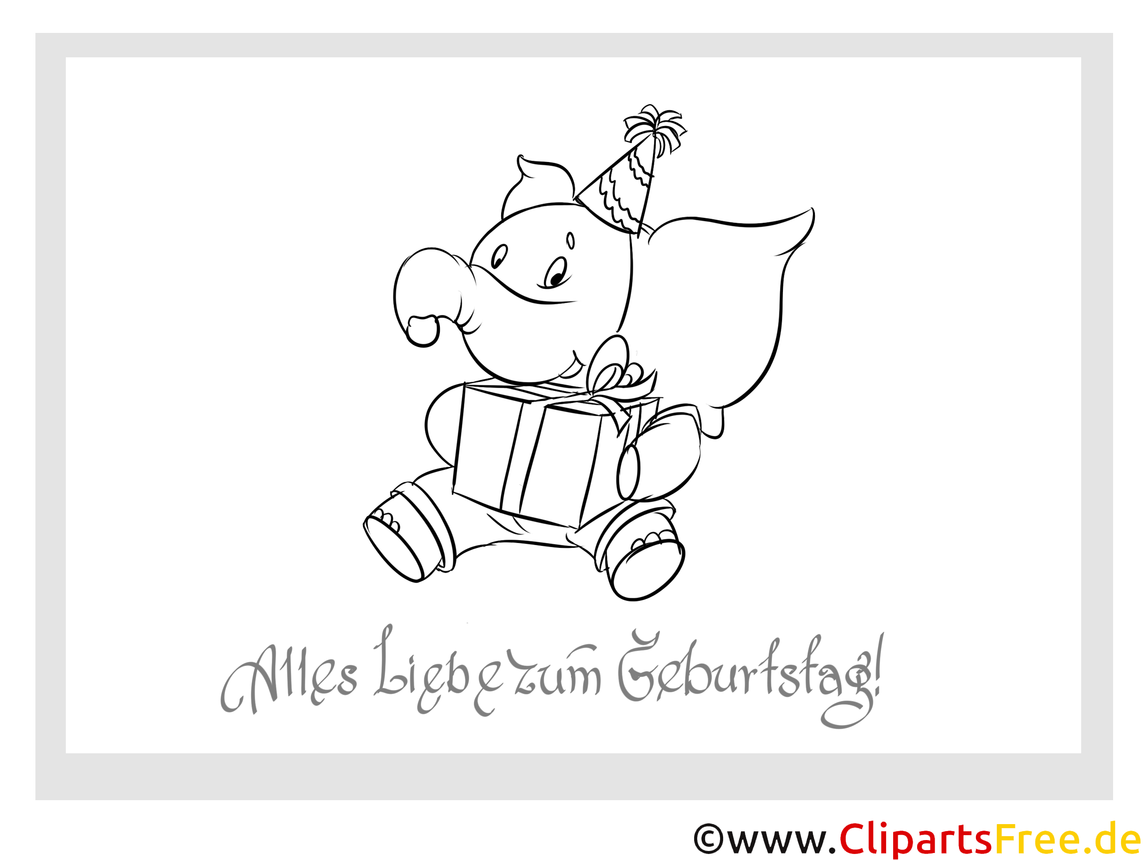 elefant malvorlage zum kindergeburtstag