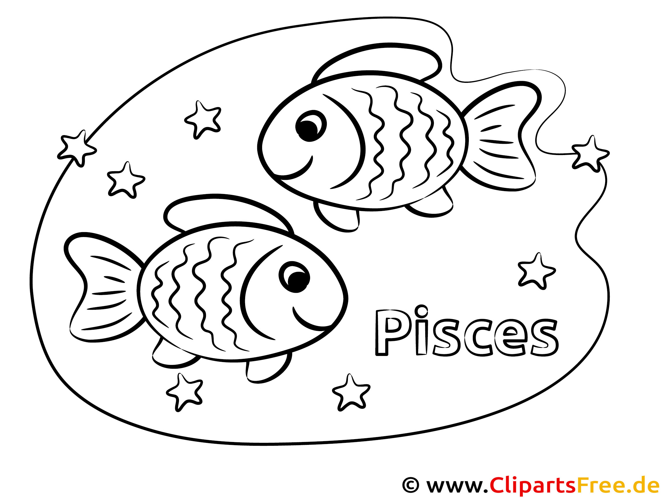 Fische Sternzeichen Ausmalbilder PDF