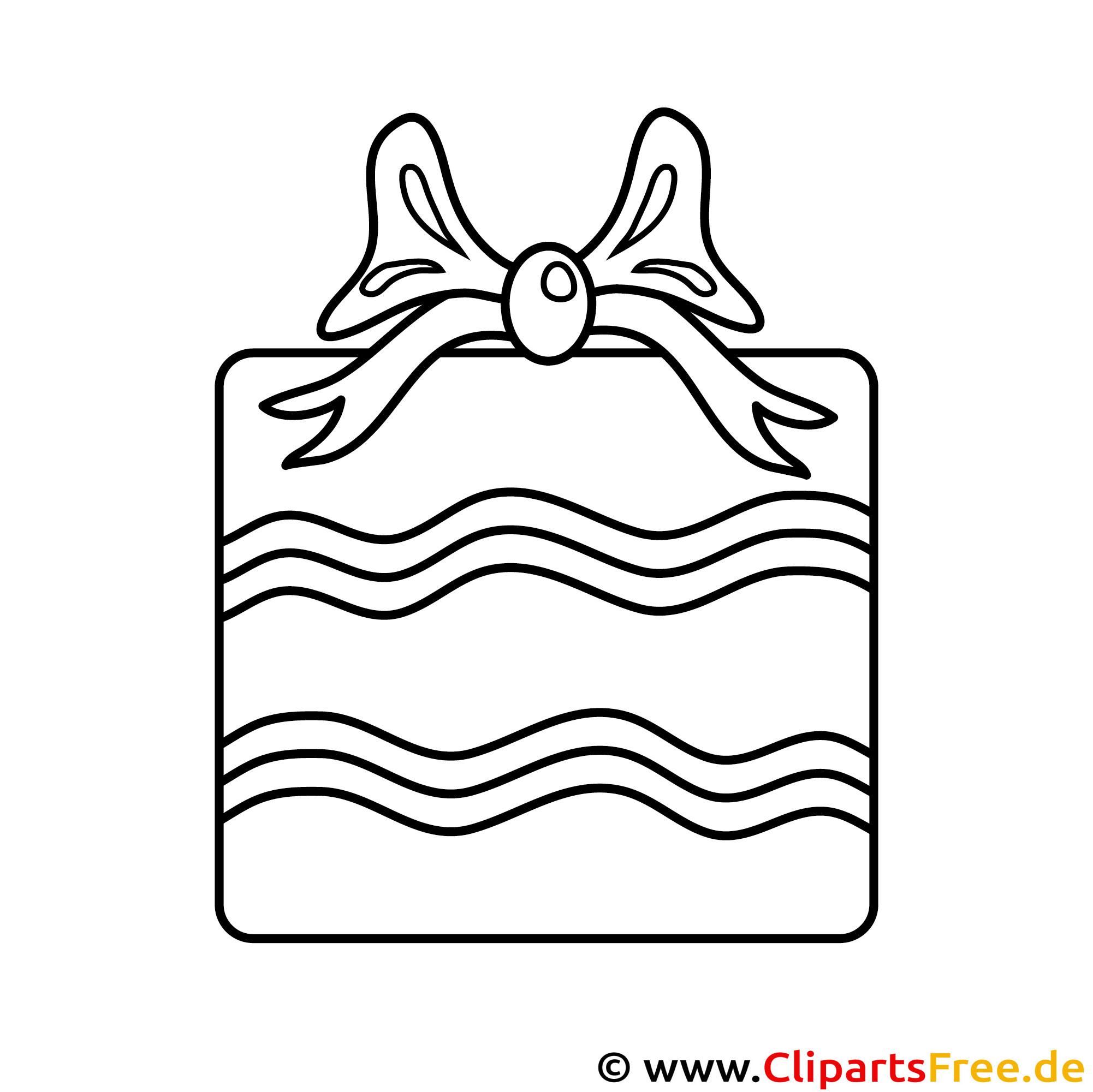 Geschenk zum Geburtstag Ausmalbild