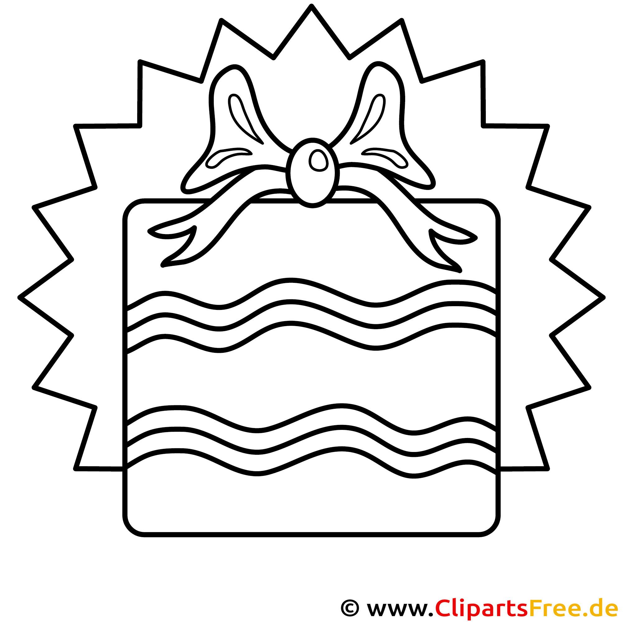 Geschenk zum Geburtstag Ausmalbild gratis