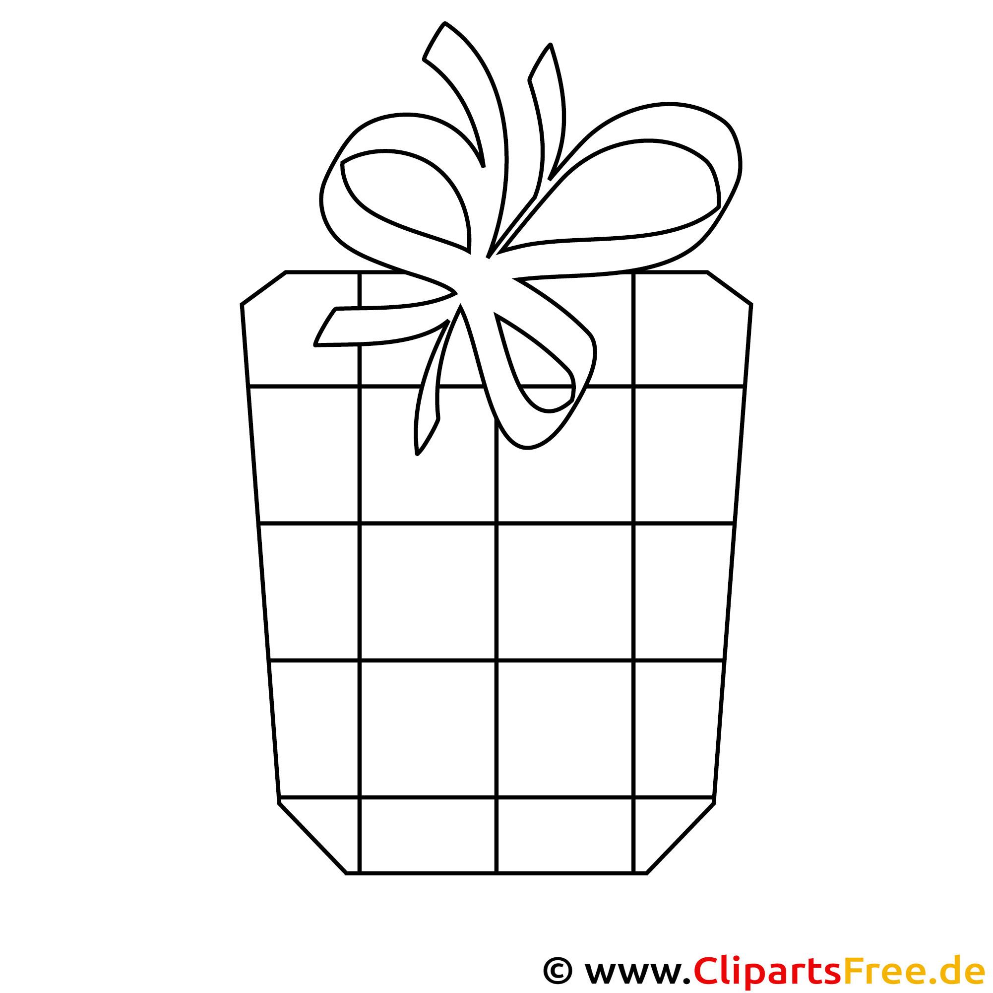Geschenk zum Geburtstag Ausmalbild PDF kostenlos