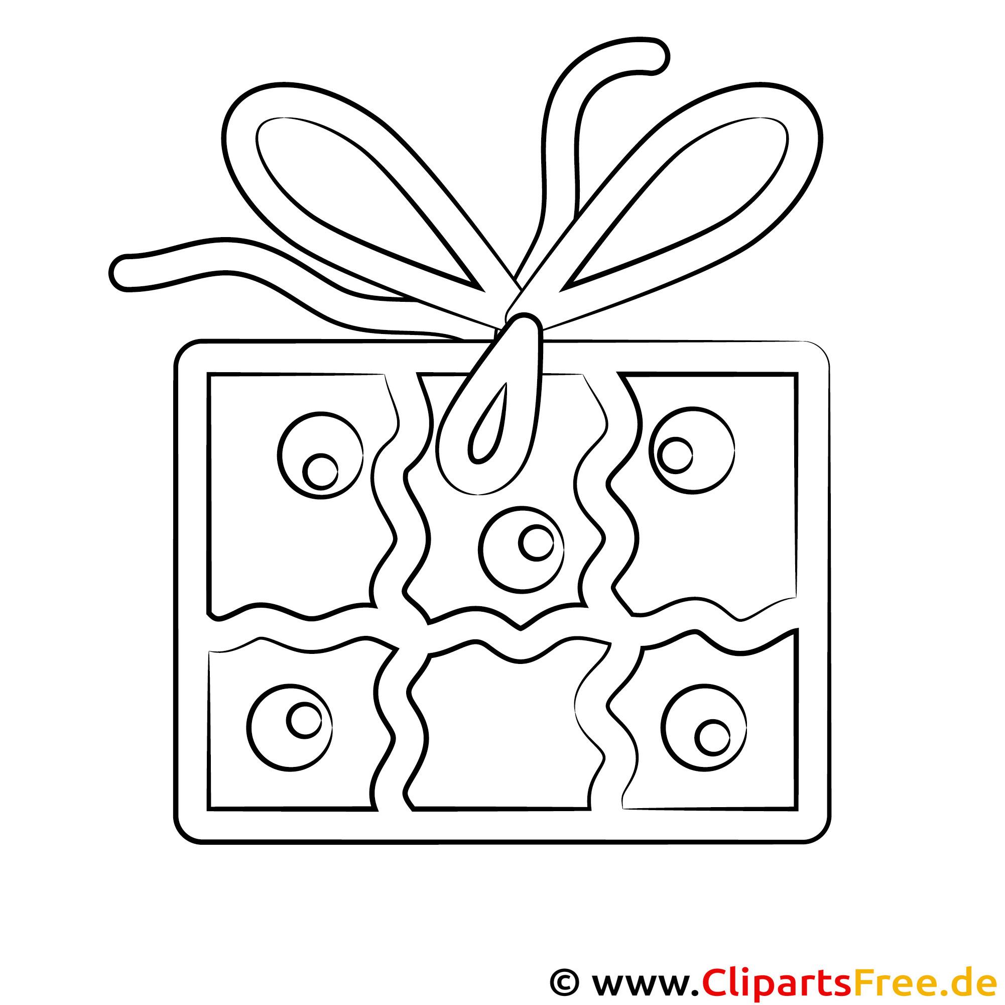 Geschenk zum Geburtstag Malvorlage