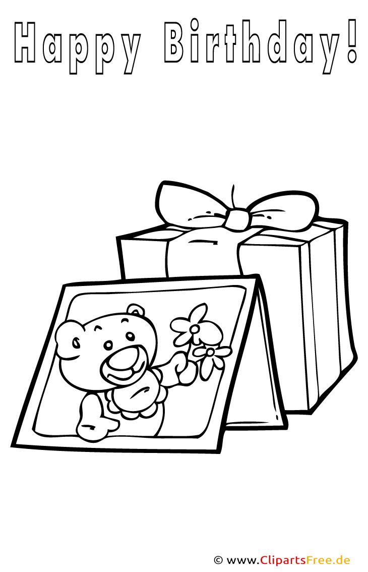 Geschenke zum Geburtstag Malvorlage gratis