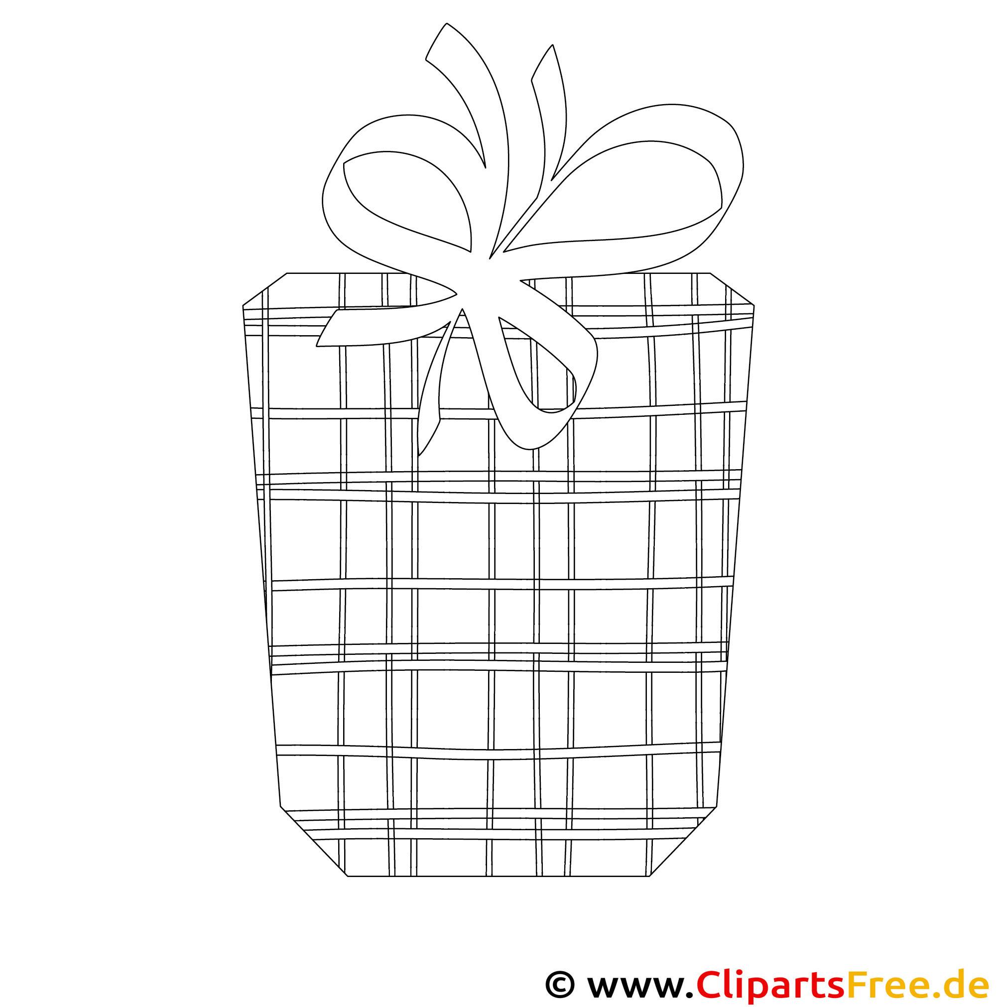 Gift to Birthday Bild zum Ausmalen, Malvorlage