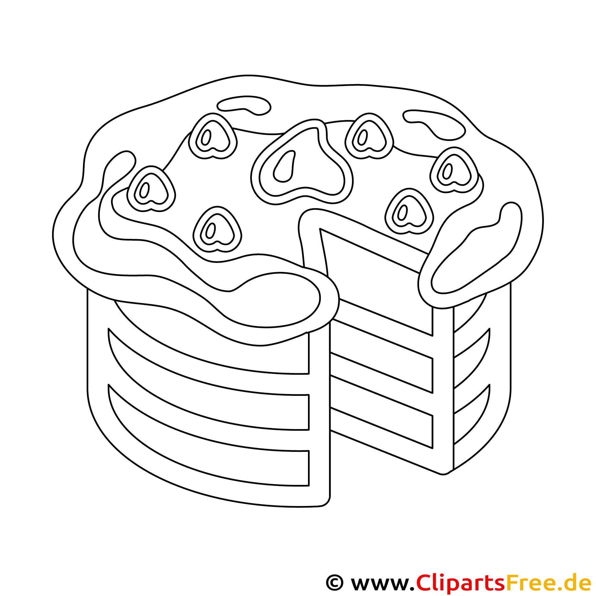 Kuchen Malvorlage als PDF-Datei