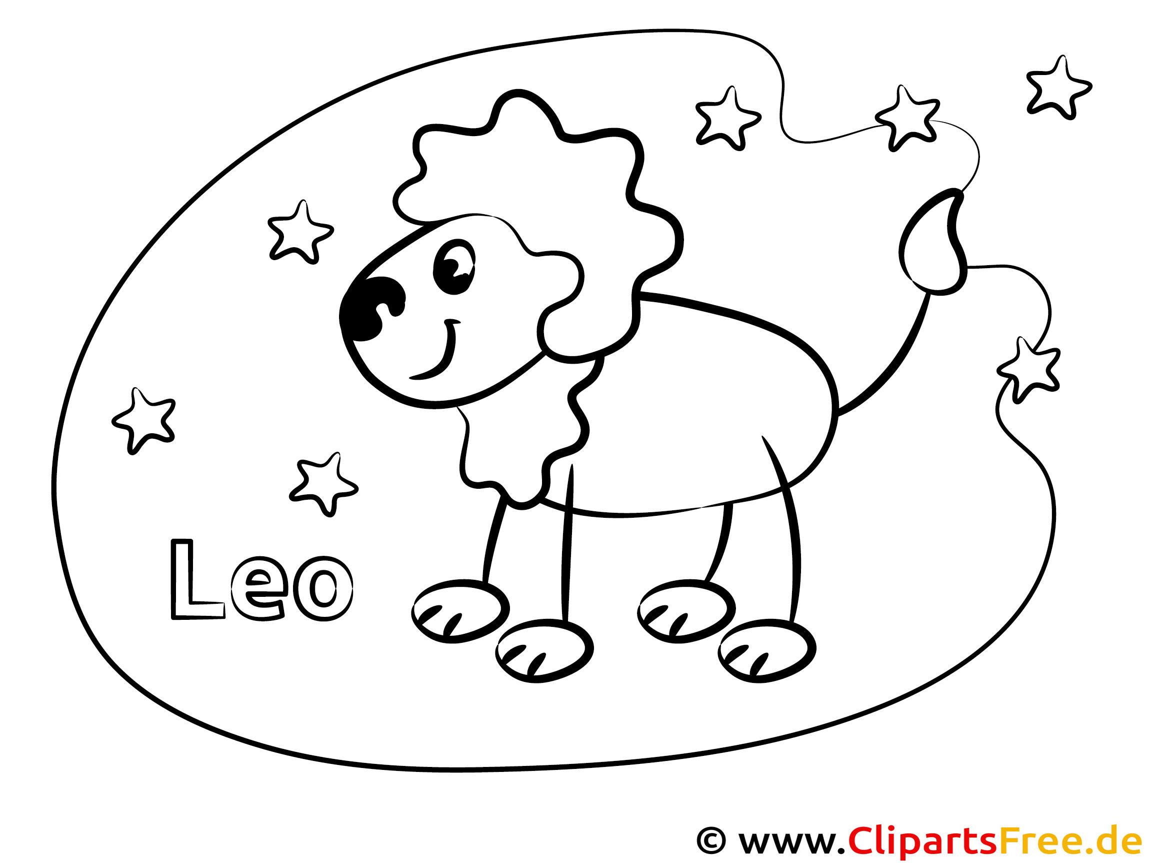 Löwe Sternzeichen Bilder zum Ausmalen