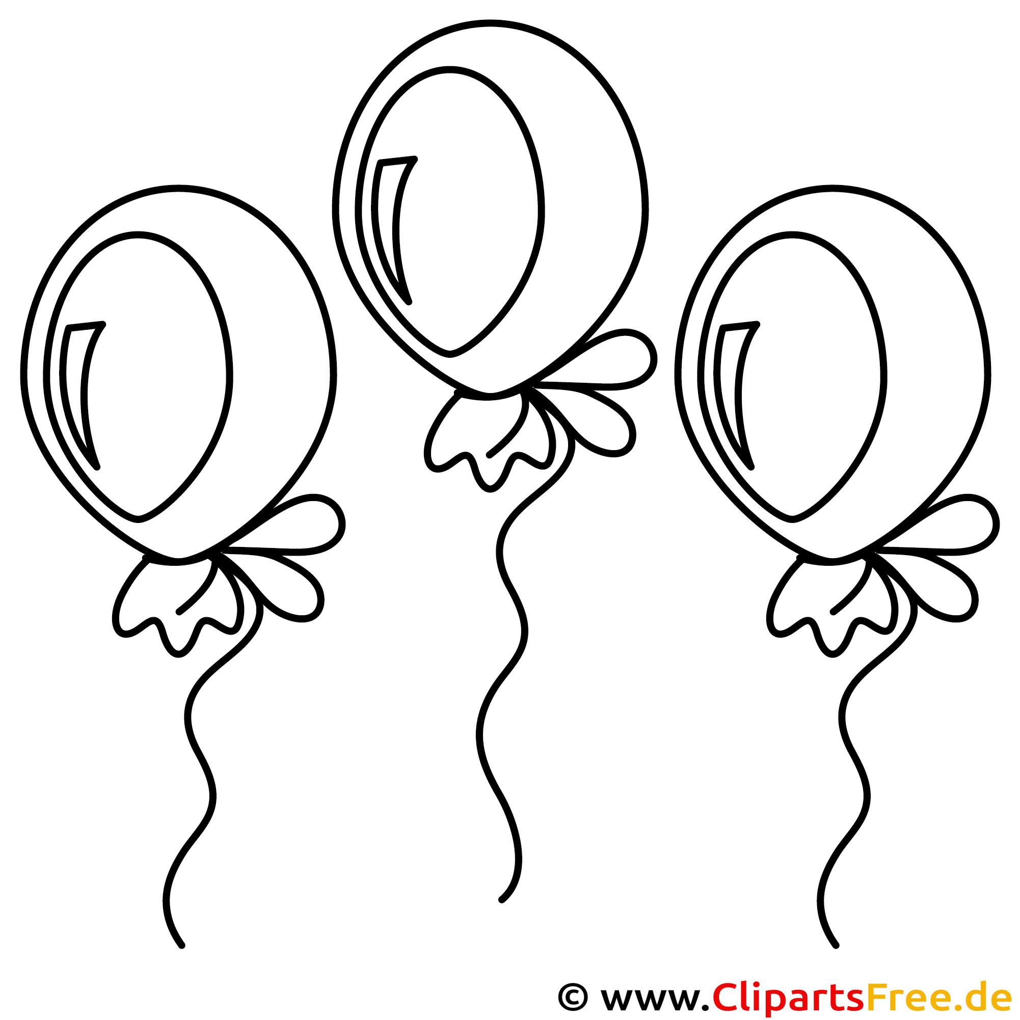 Luftballons Vorlage zum Ausmalen