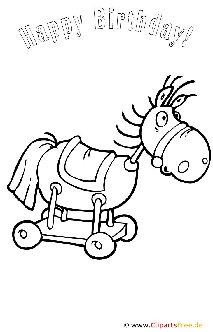Pferd PDF-Ausmalbild kostenlos