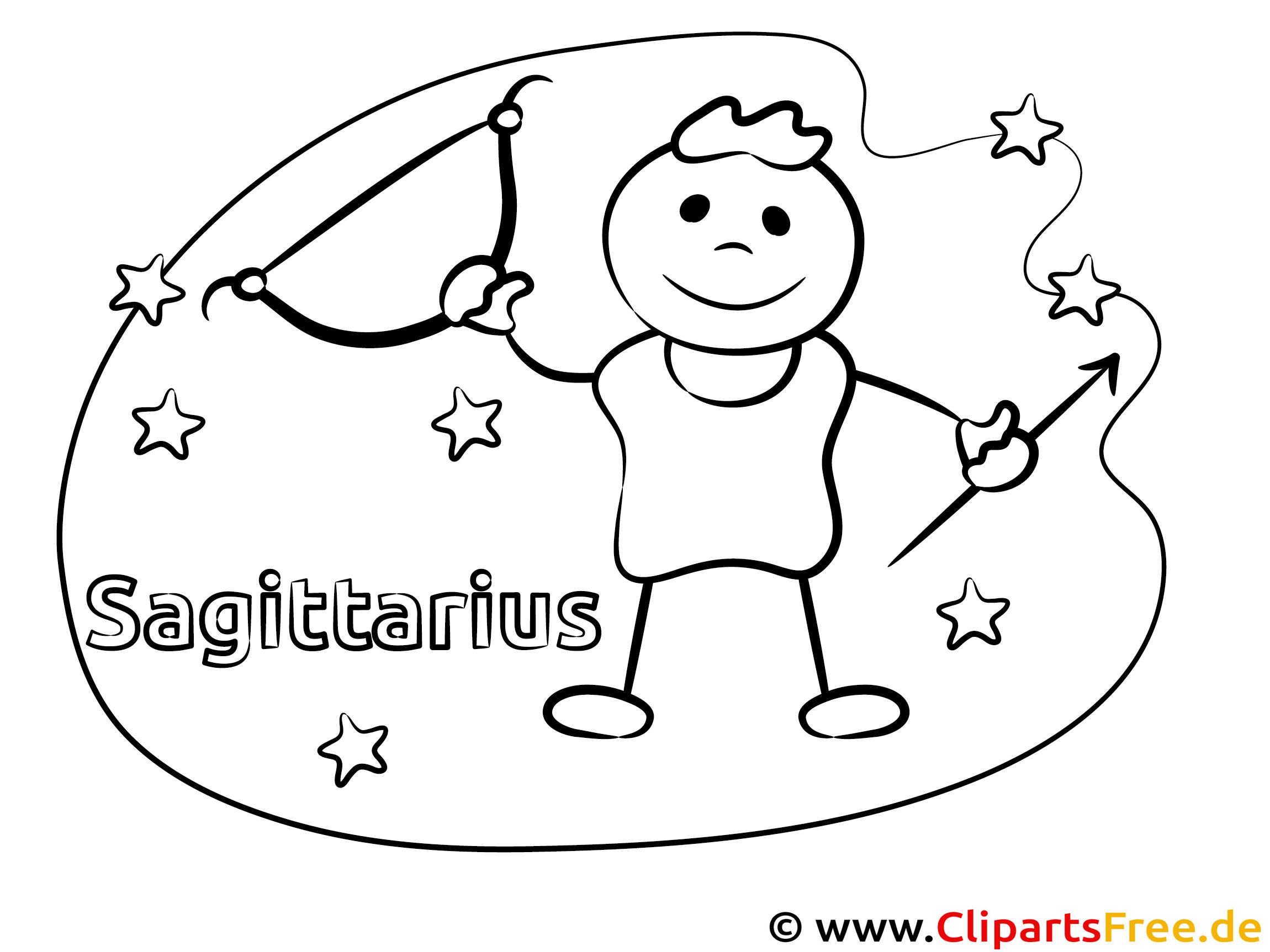 Schütze Sternzeichen Malvorlage zum Ausdrucken